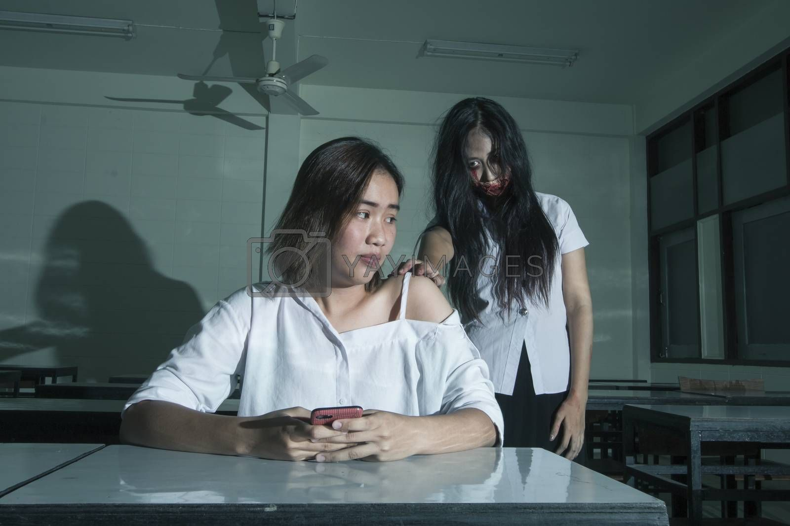 Ghost university girl with scary girl
