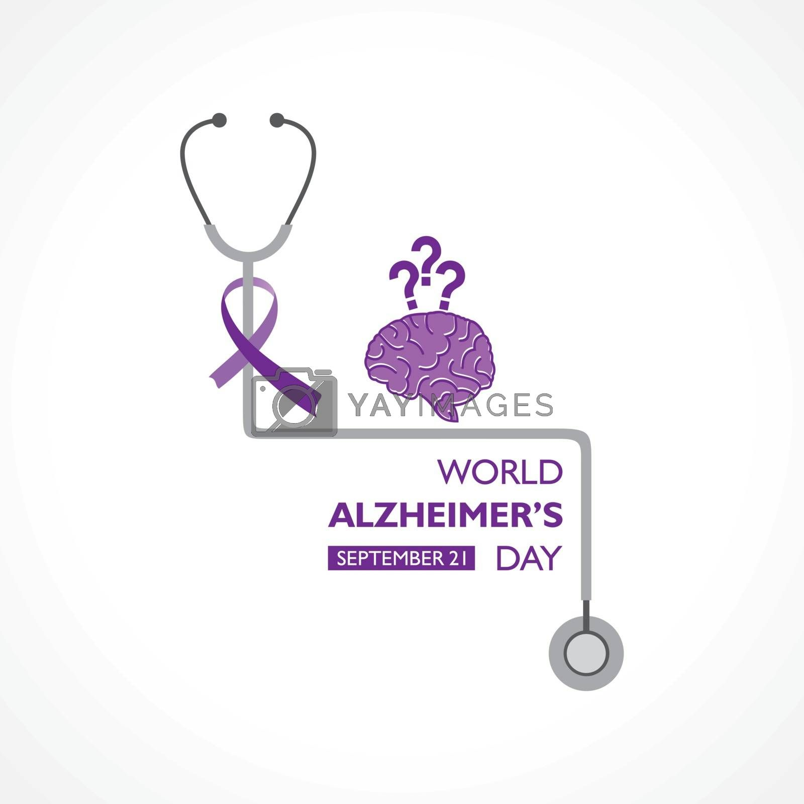 Vector illustration of World Alzheimers Day observed on September 21