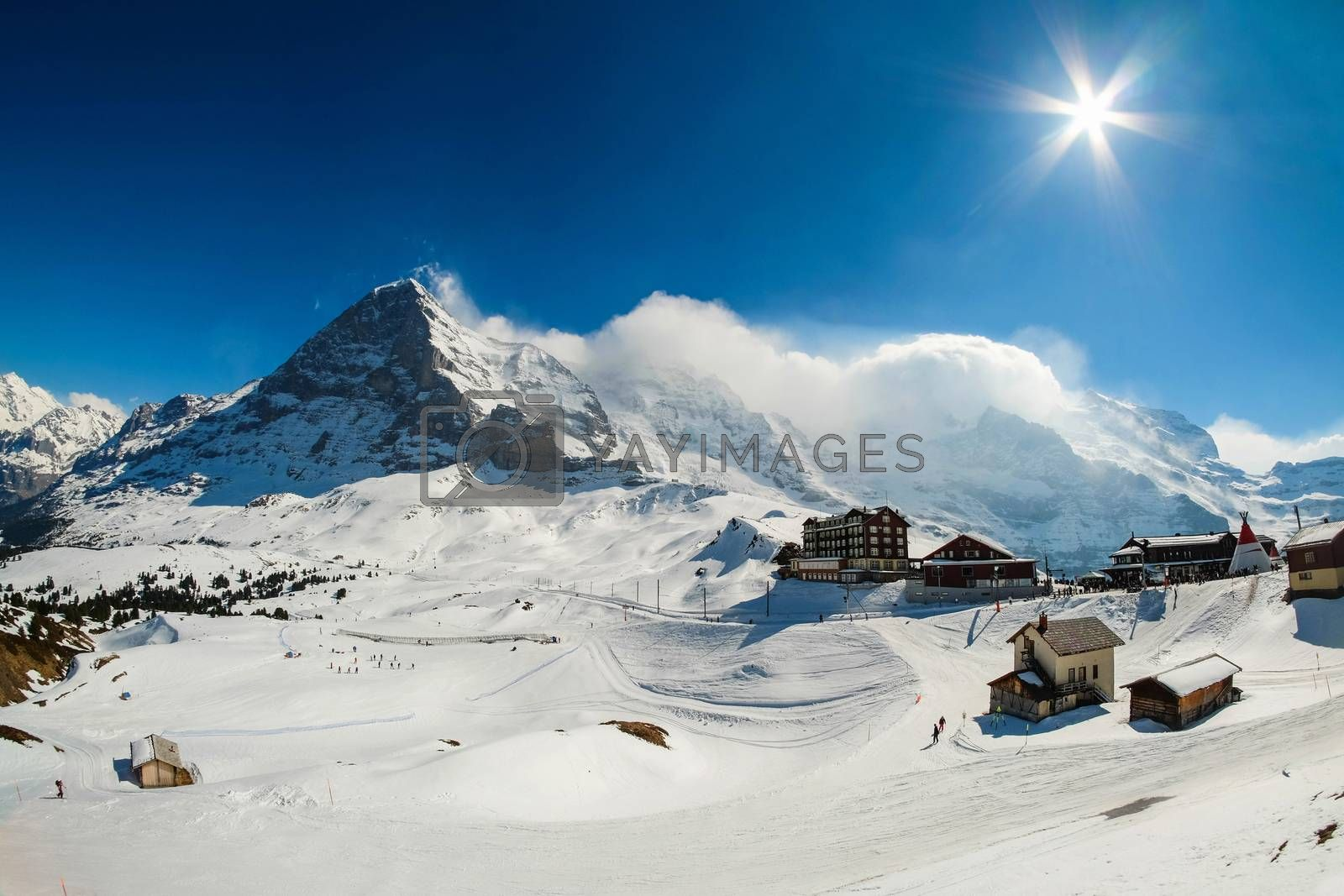 Kleine Scheidegg station, along the railway from Interlaken to J by Surasak
