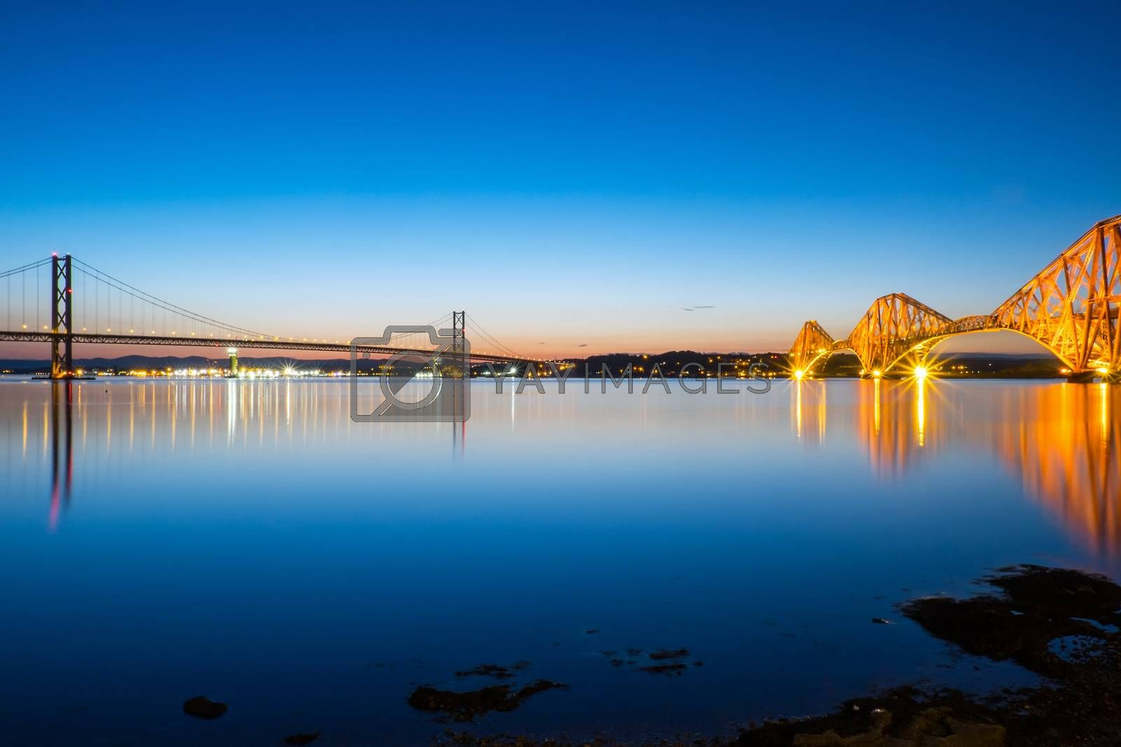 The bridges over the Forth of Firth at South Queensferry, Scotland