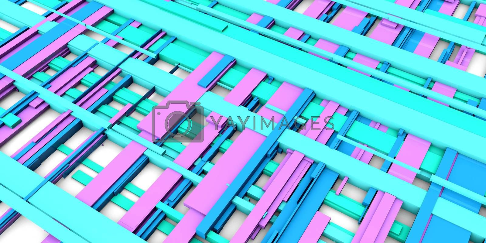 Beauty Fashion Geometric Background in Blue Pink and White