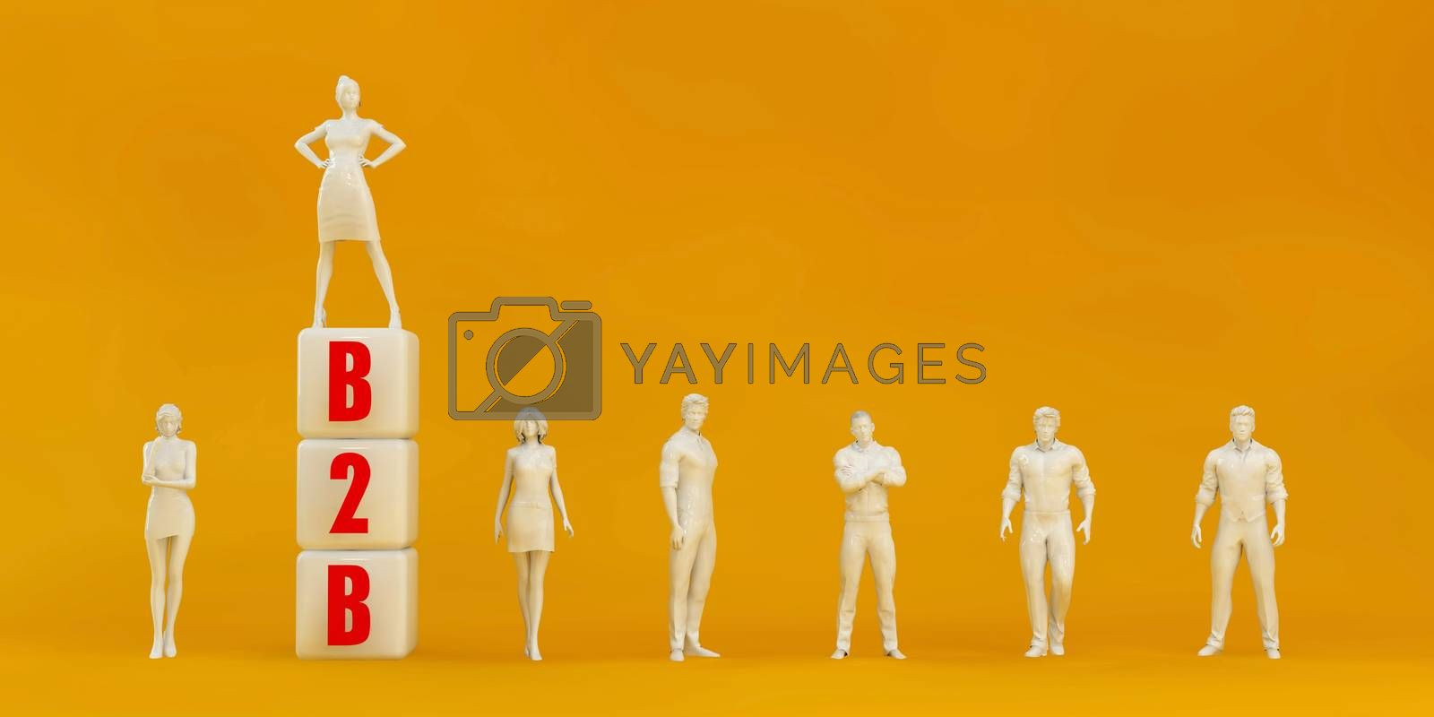 B2B Business to Business Presentation Background in Orange and Red