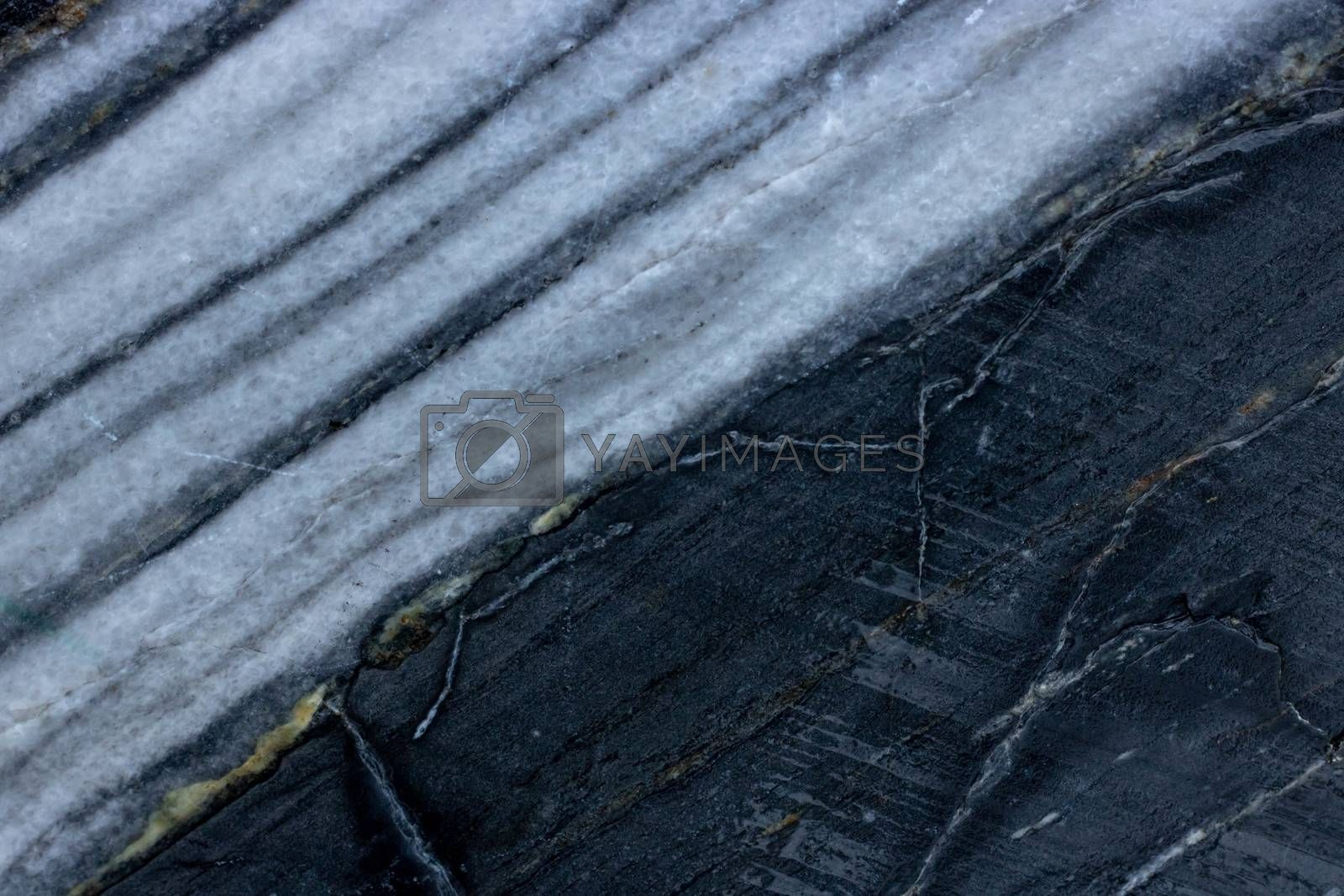 Raw black nature marble patterned texture background