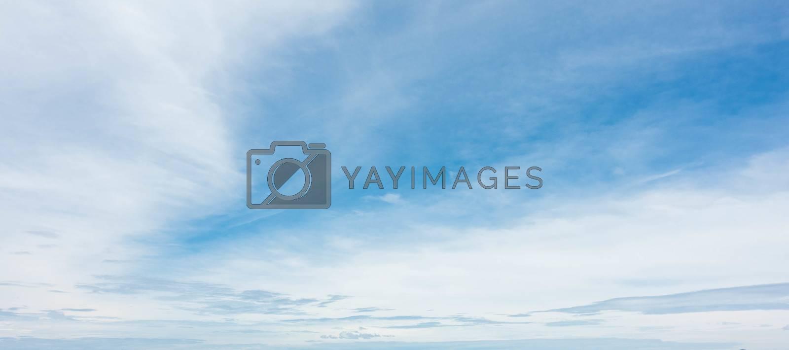 Panorama blue sky