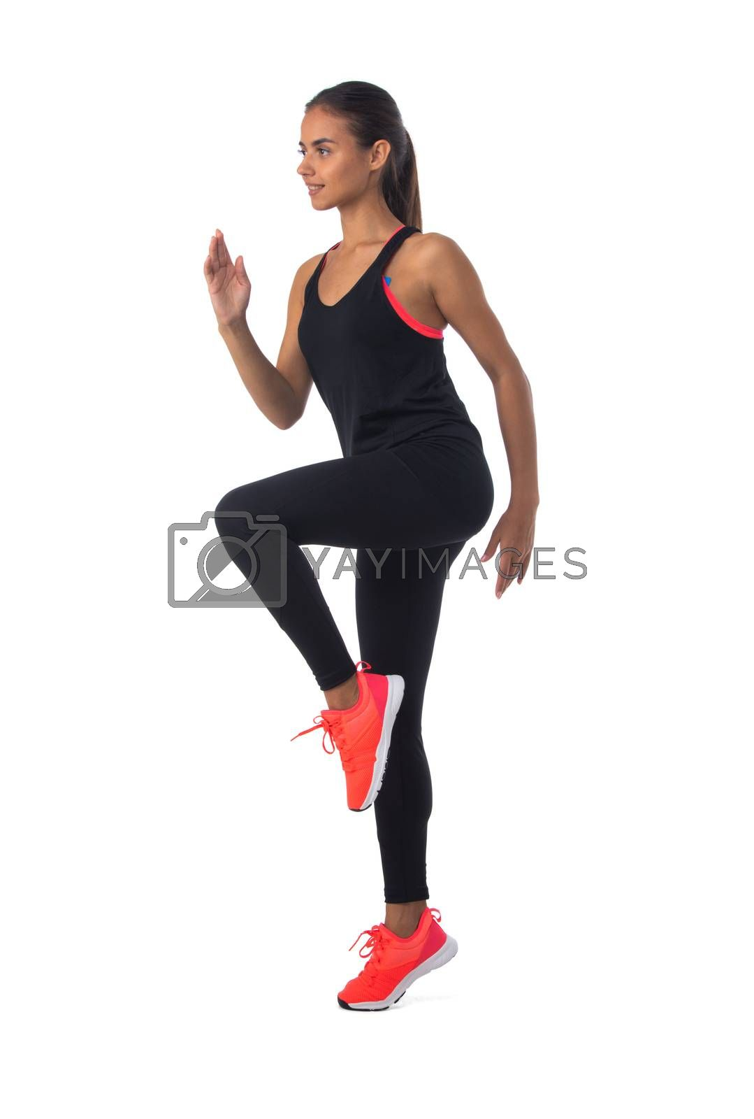 Royalty free image of Fitness girl doing workout by ALotOfPeople