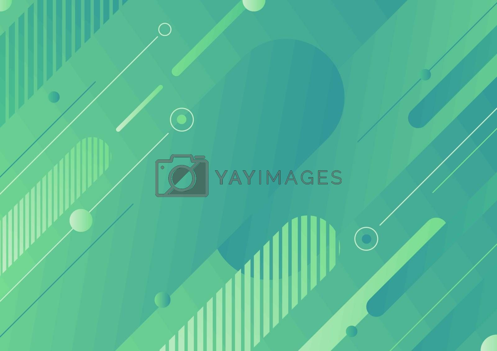 Abstract modern green color diagonal geometric rounded lines shapes background. You can use for design template for cover brochures, flyers, banners web, headers, book, poster, etc. Vector illustration