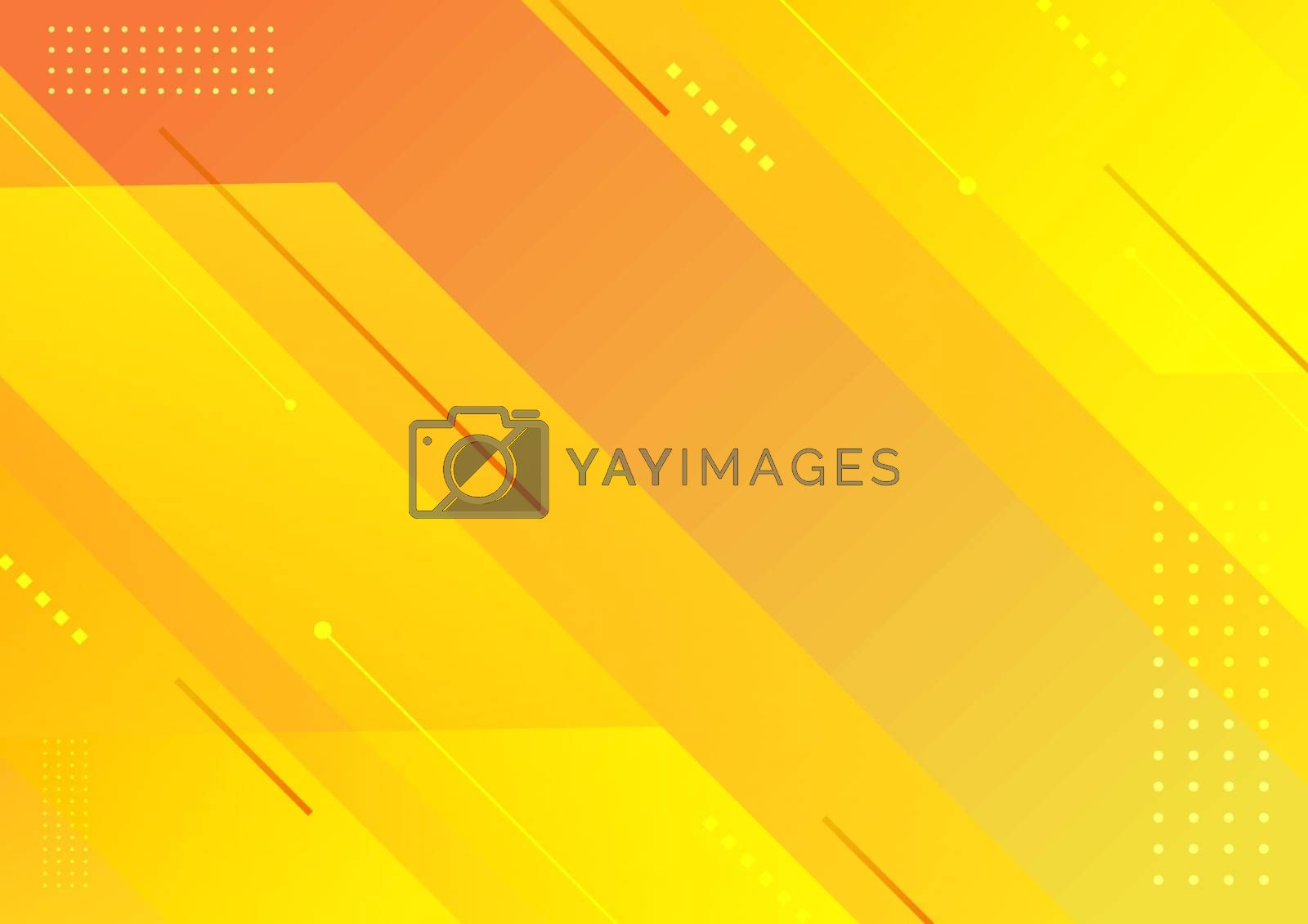 Abstract modern stripes geometric diagonal yellow background. Vector illustration