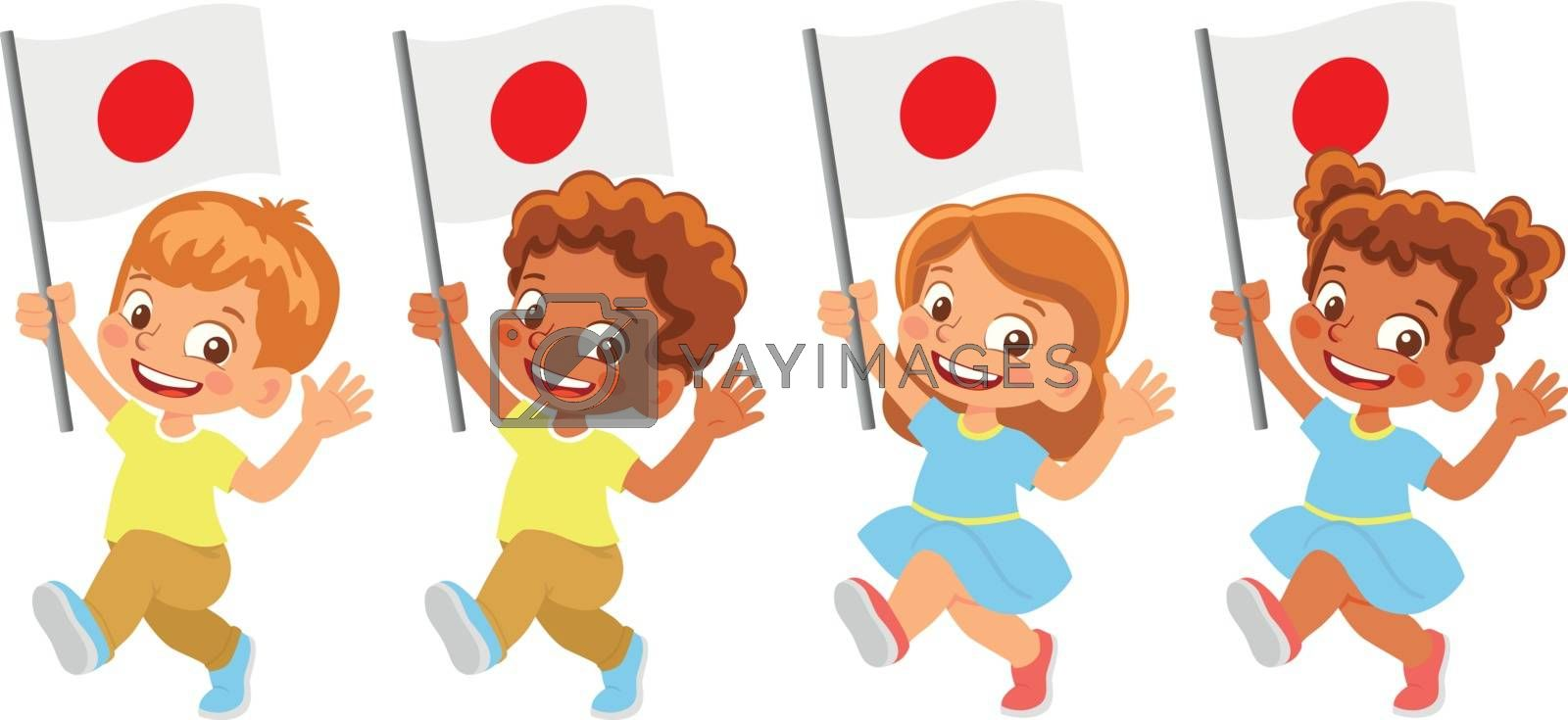 Royalty free image of Japan flag in hand set by Visual-Content