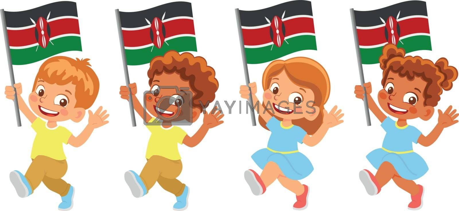 Royalty free image of Kenya flag in hand set by Visual-Content