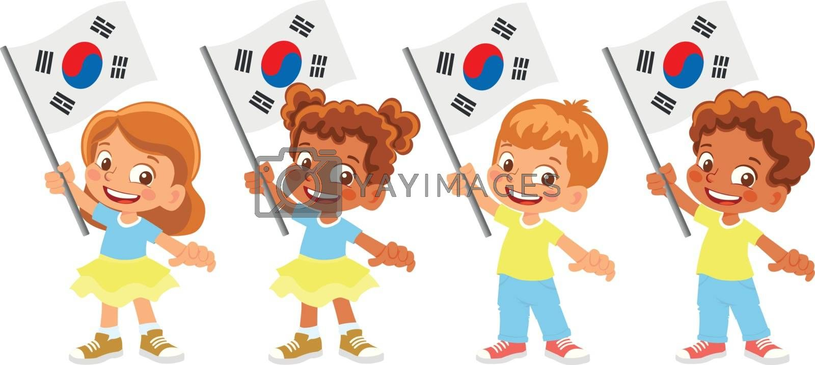 Royalty free image of south korea flag in hand set by Visual-Content