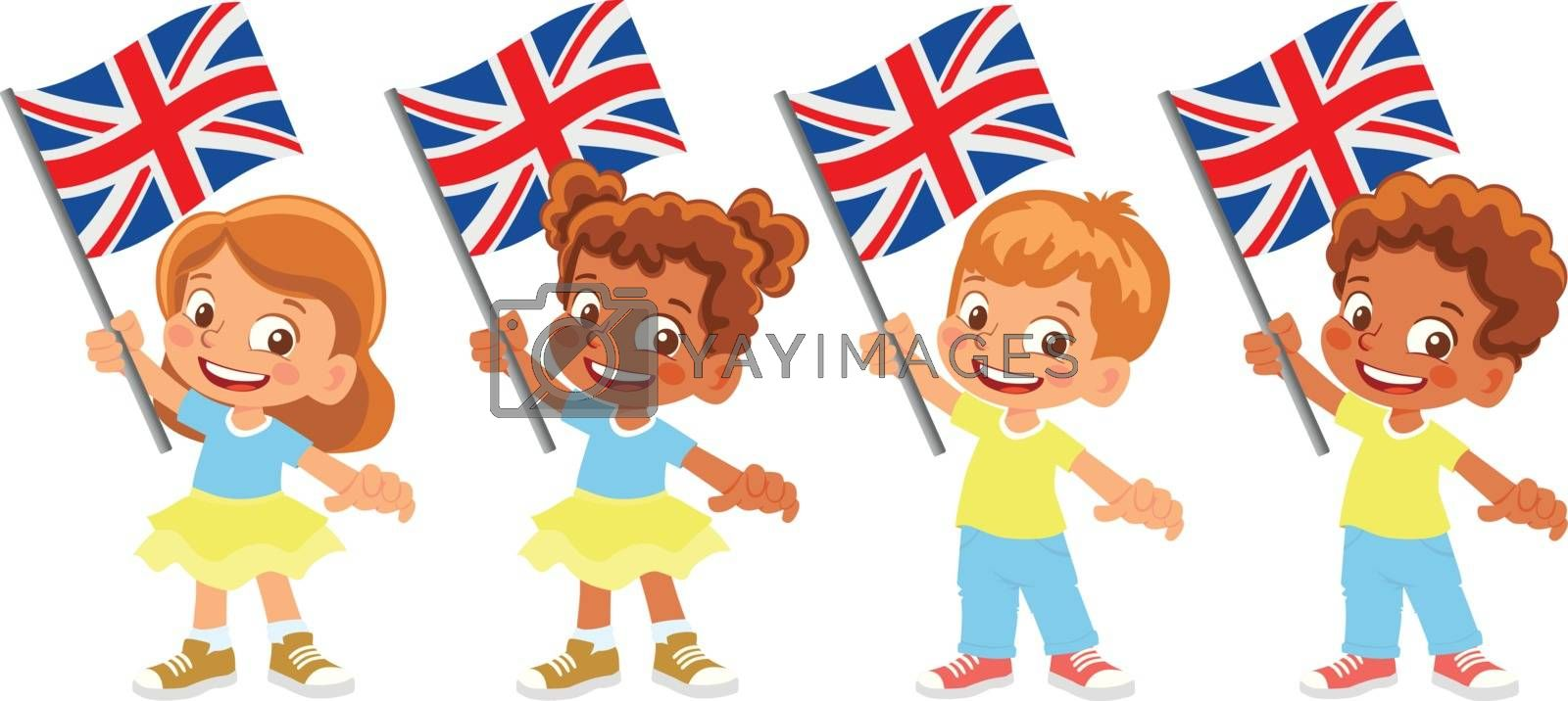 United Kingdom flag in hand set by Visual-Content