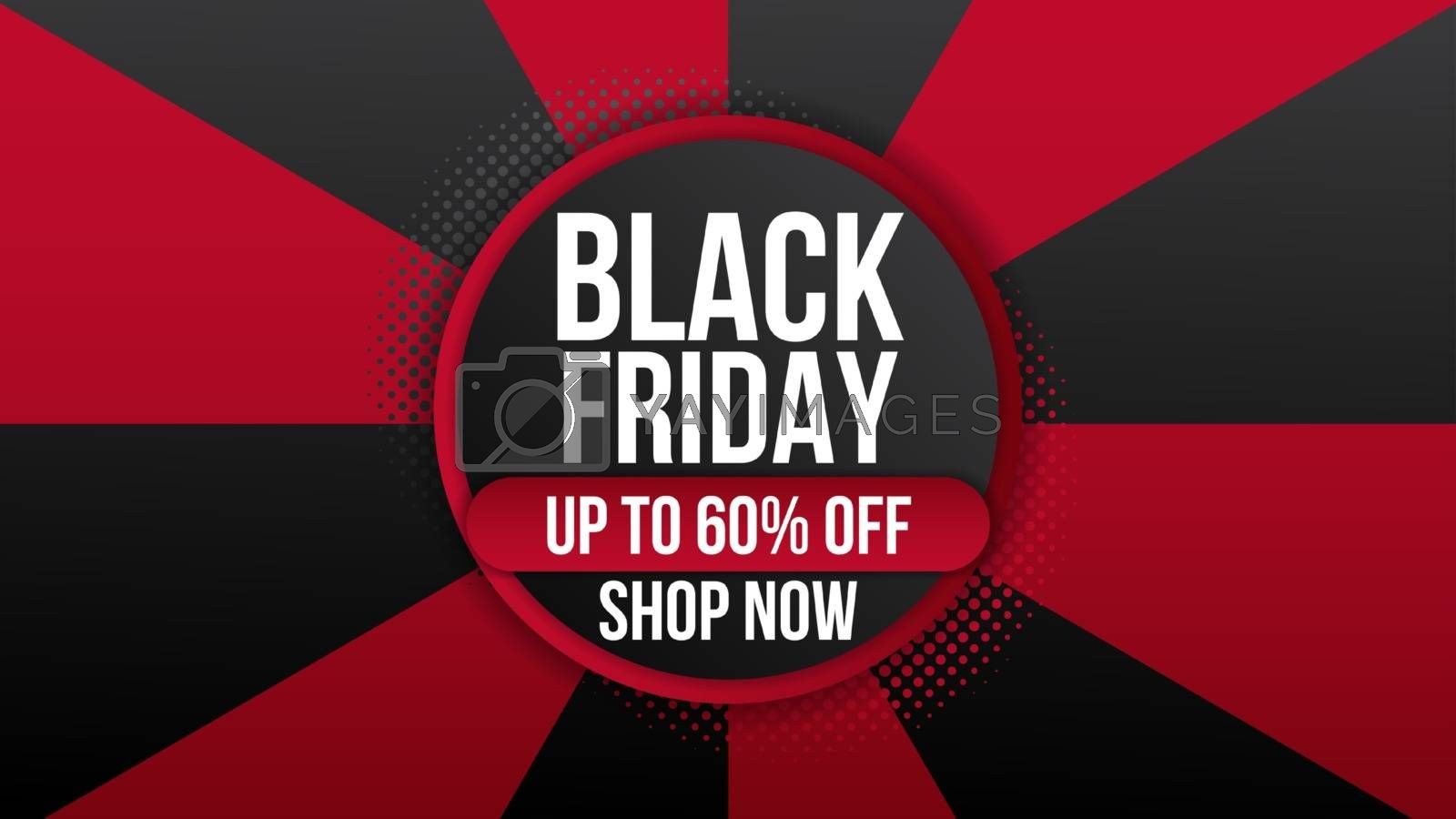 Black Friday sale background with sale promo banner flyer.Modern design layout template.Shopping day sale offer poster, flyer, card. Vector background.