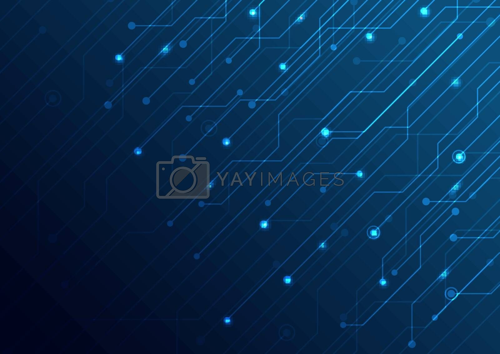 Abstract business technology structure circuit computer blue background. Vector illustration