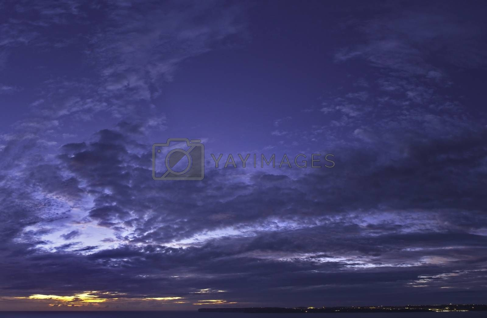 A beautiful evening sky over the island of Gozo.