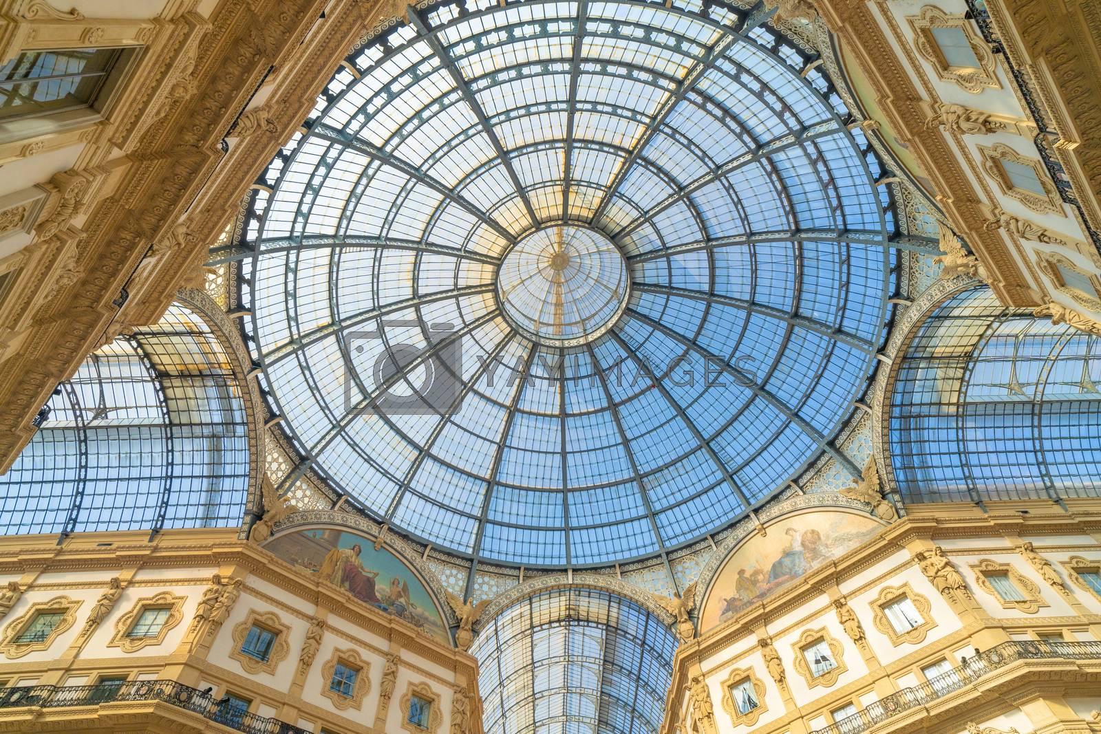 Royalty free image of Galleria Vittorio Emanuele II in Milan, Italy. by maramade