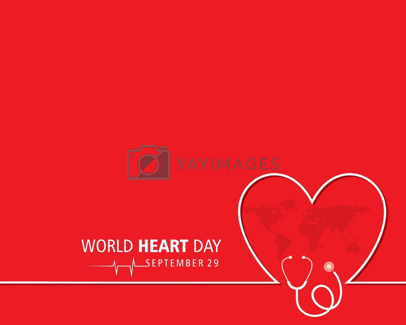 Vector Illustration of World Heart Day observed on 29 September