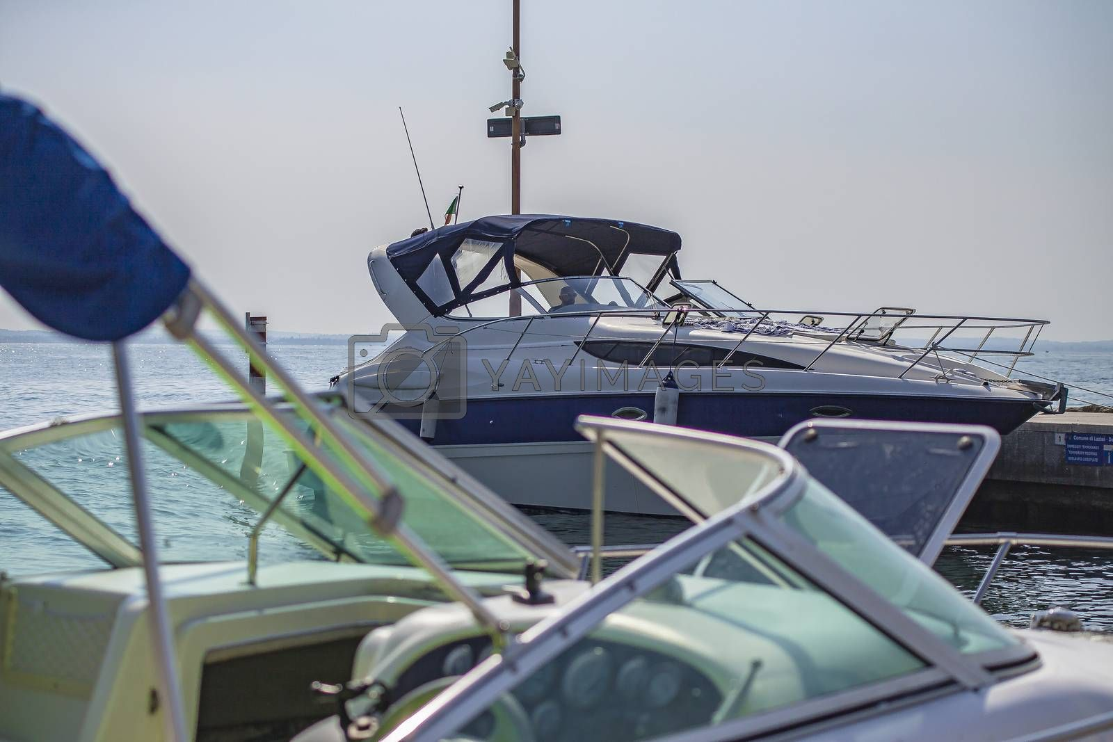 LAZISE, ITALY 16 SEPTEMBER 2020: Luxury Boats detail