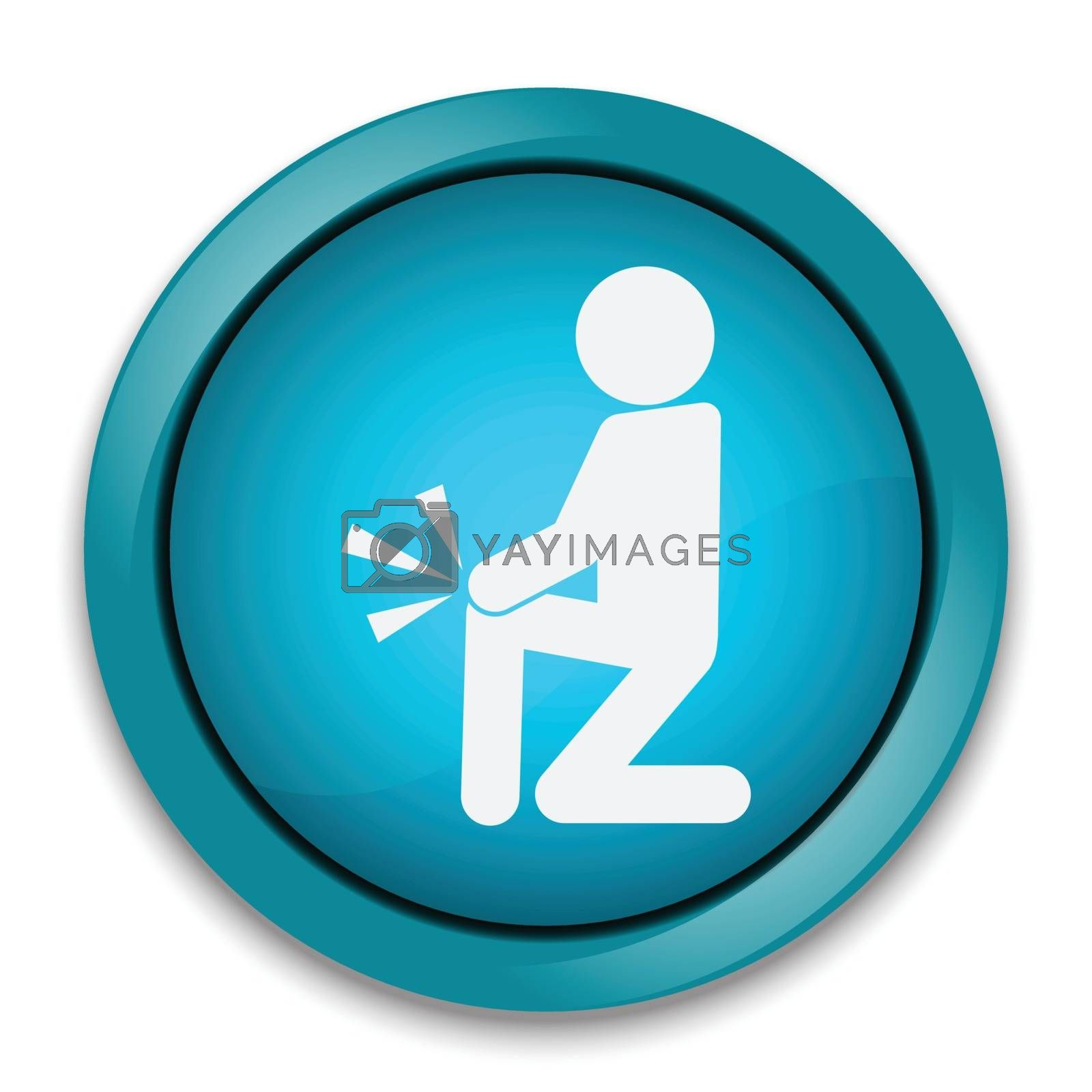 Injury of the knee pain, Injury of the leg pain icon