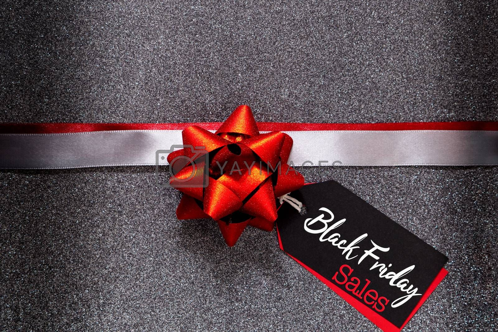 Black Friday sale, luxury gift box with price tag