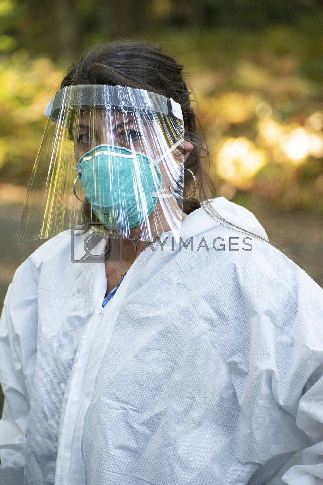 Medical Assistant Covid19 Testing outdoors pandemic