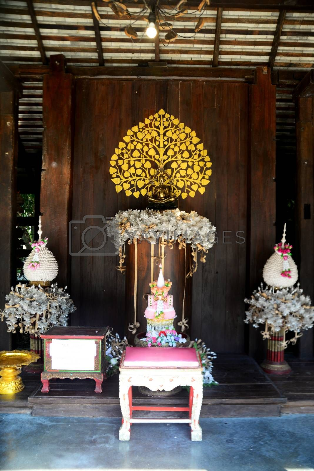 CHIANGRAI, THAILAND - 22 December, 2019 : Cherntawan International Meditation Center, This meditation center is named after one of Thailand's most famous Buddhist monks by W. Vajiramedhi