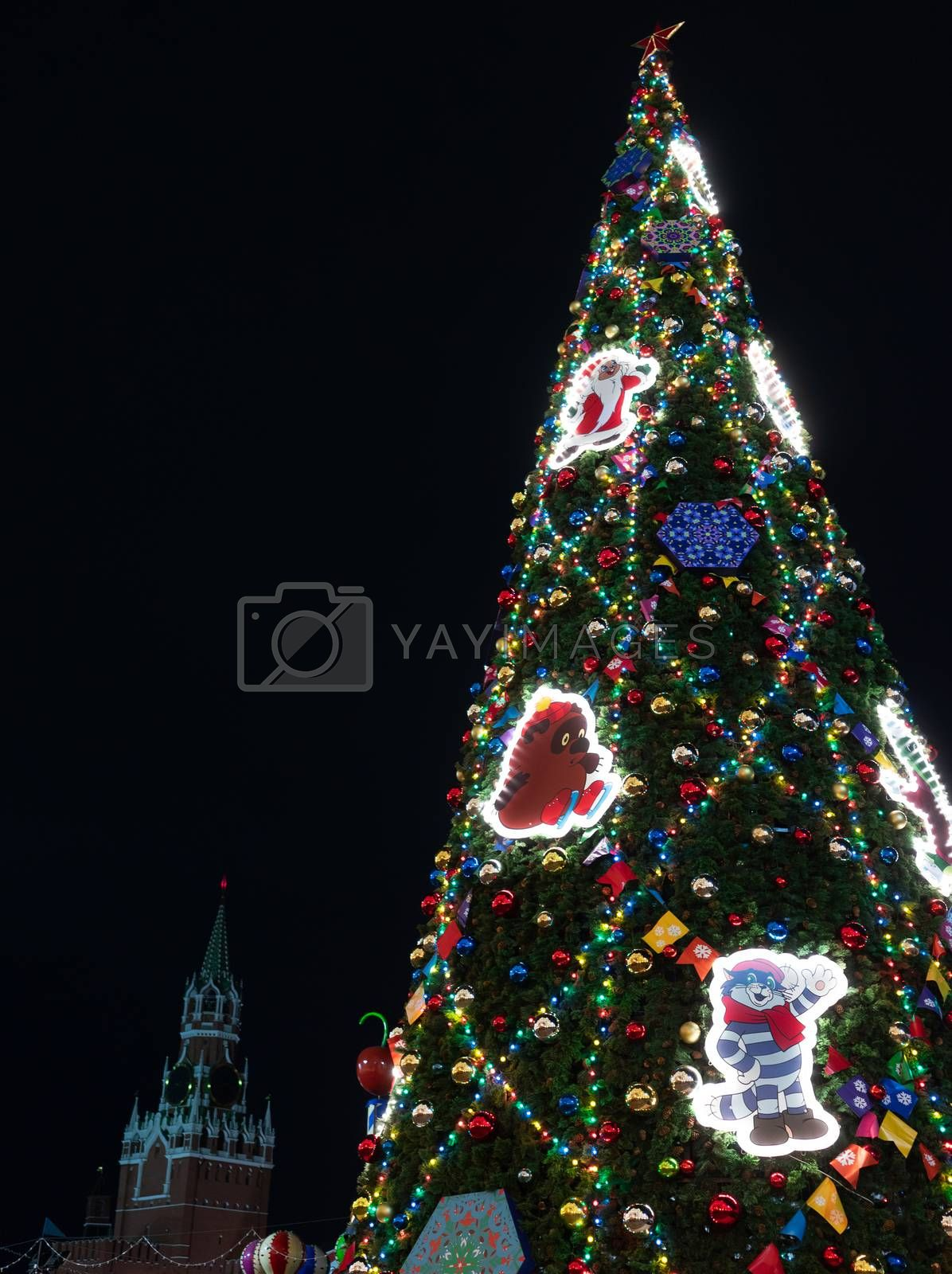 23 November 2018, Moscow, Russia. Christmas tree on red square in Moscow.