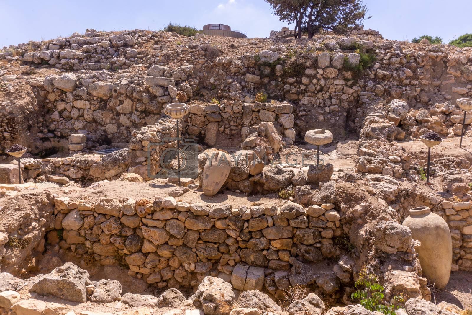 Biblical Shiloh ruins of historic town in Samaria