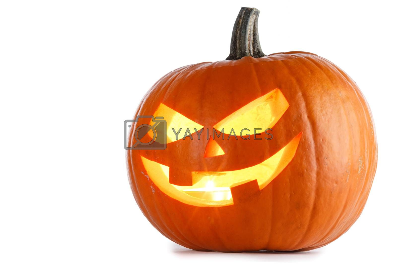 Halloween Pumpkin isolated on white by Yellowj