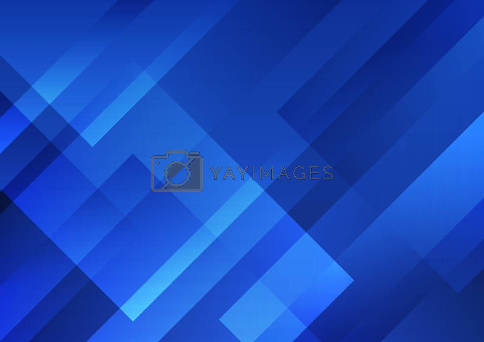Abstract blue geometric shape overlay layer background technology style. Vector illustration