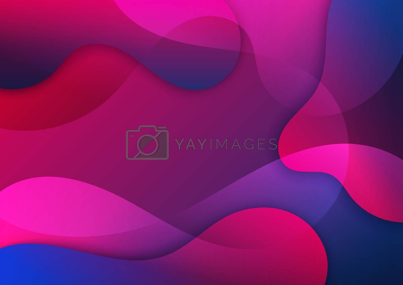 Abstract pink and blue gradient waves shape background. Vector illustration