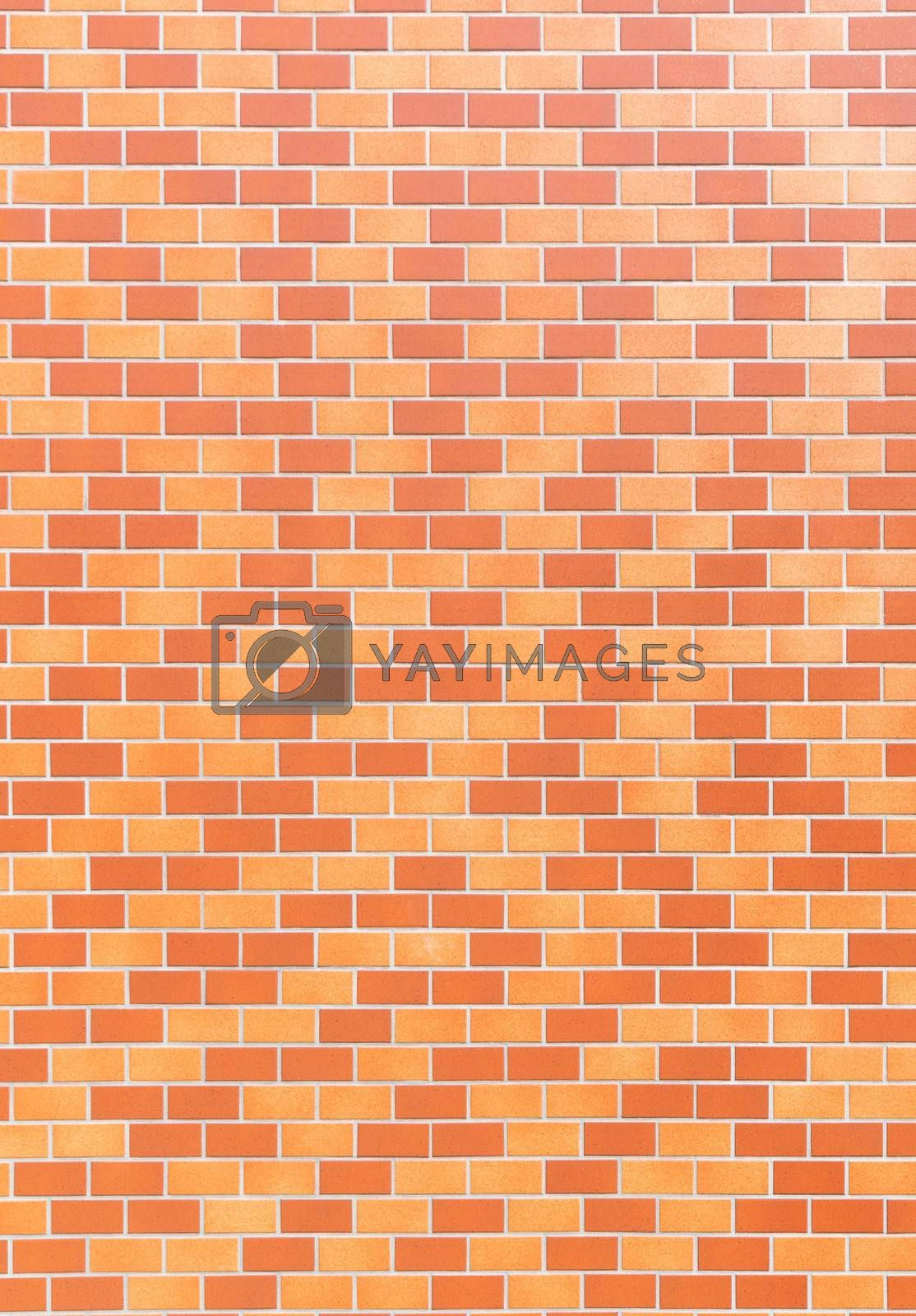 Red brick wall as texture background