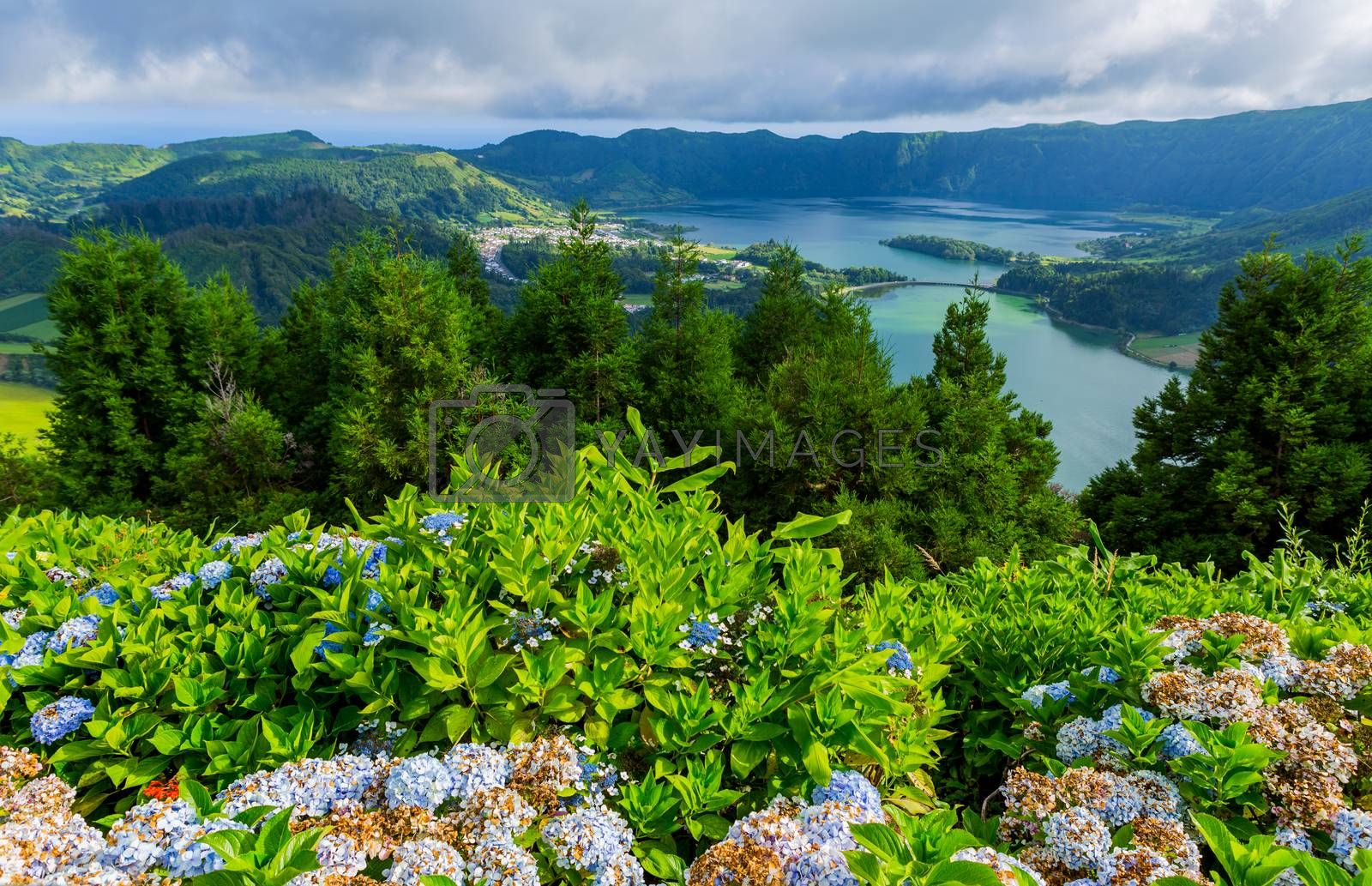 Royalty free image of Lake of Sete Cidades by zittto