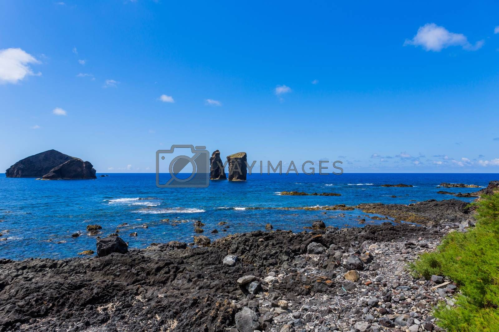 Royalty free image of Mosteiros on the island of Sao Miguel by zittto