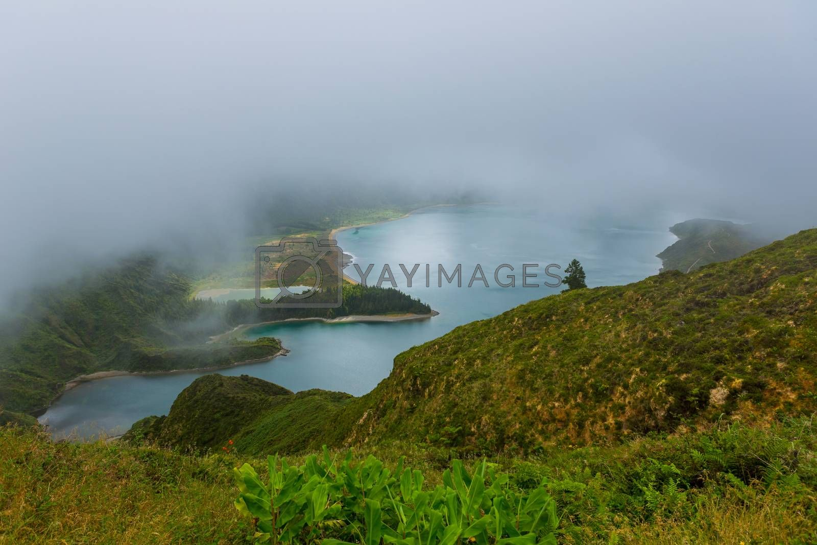 Royalty free image of view of Lagoa do Fogo by zittto