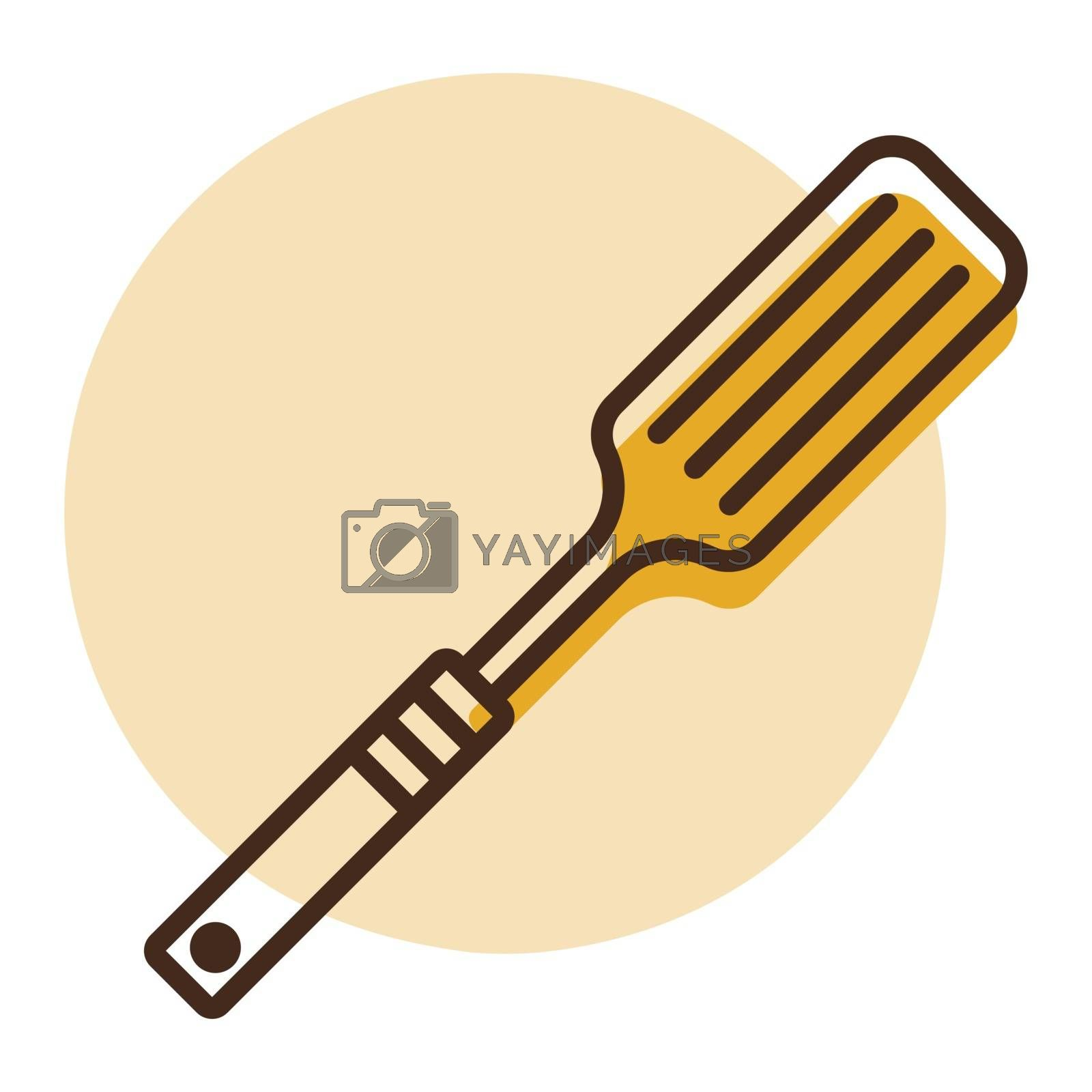 Kitchen spatula vector icon. Kitchen appliances. Graph symbol for cooking web site design, logo, app, UI