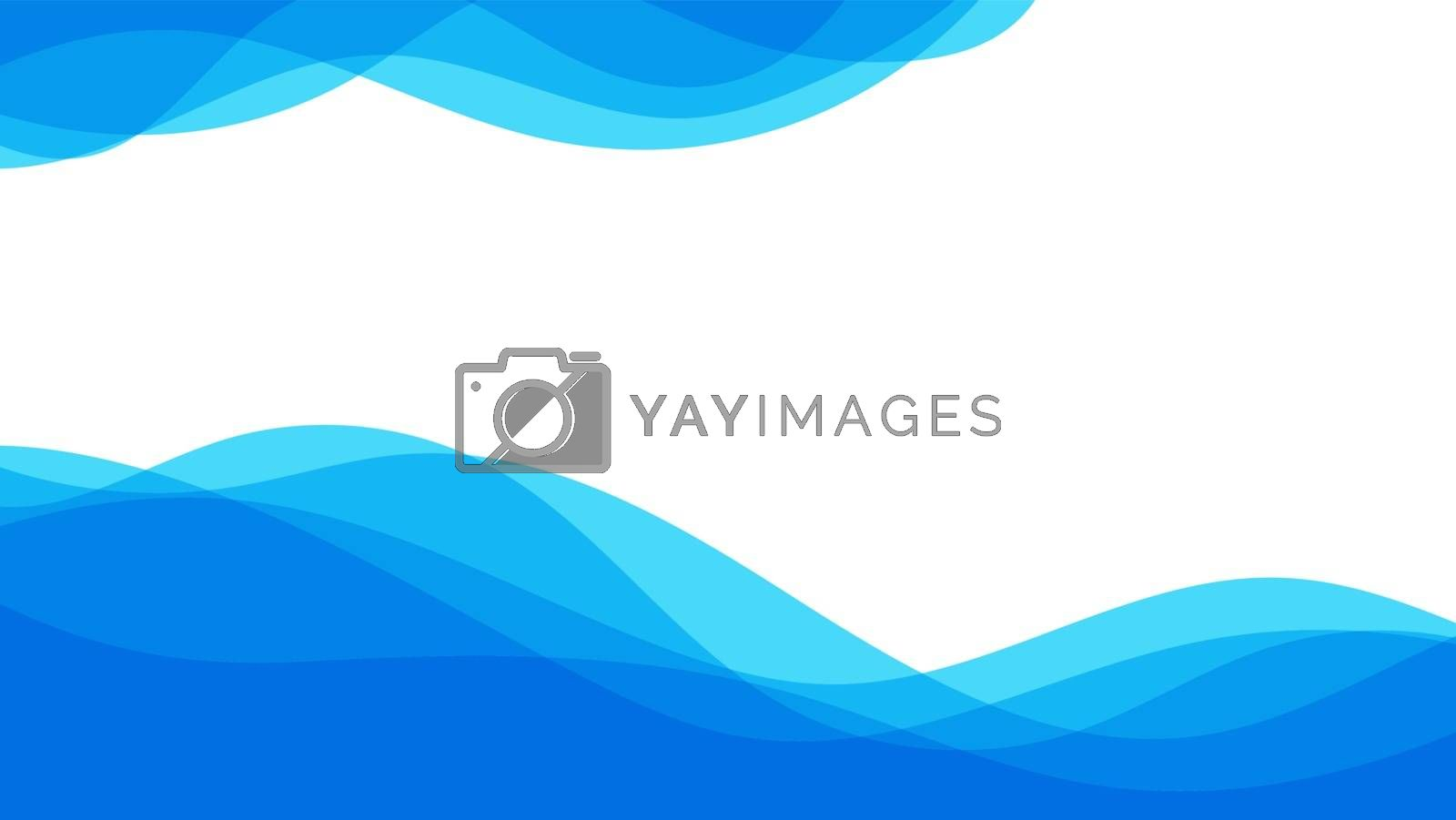 Abstract patterns blue sea ocean wave banner vector background illustration