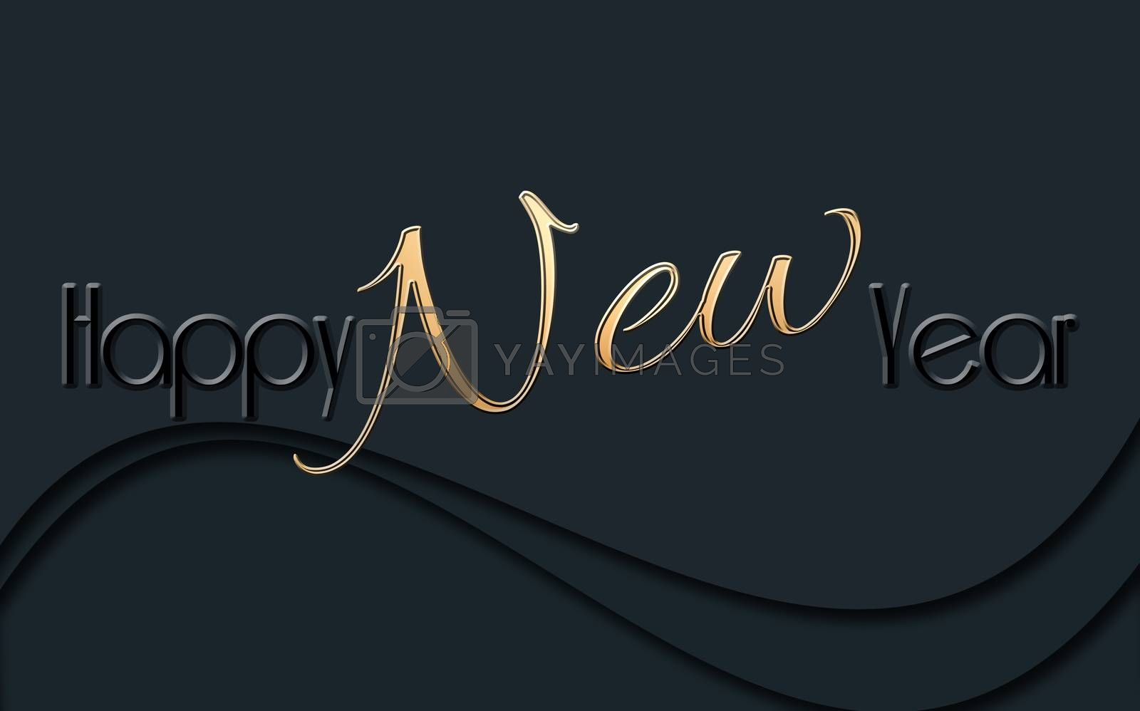 2021Happy New Year glowing background. by NelliPolk