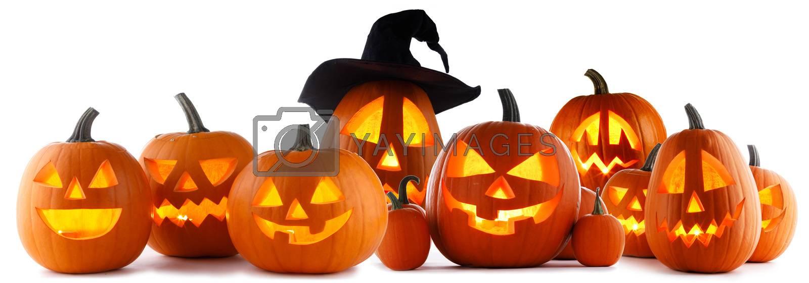 Jack O Lantern Halloween pumpkins by Yellowj