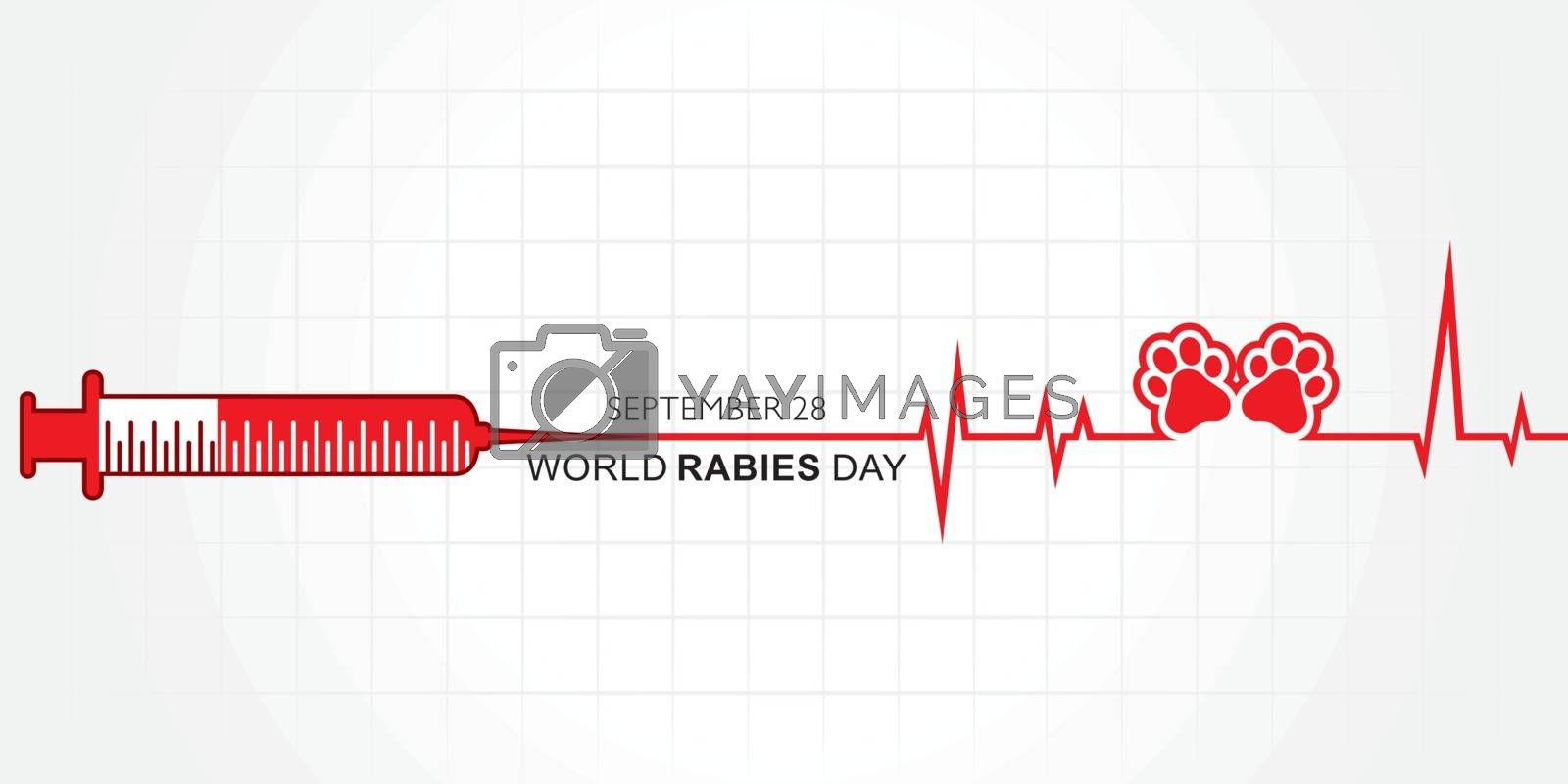 World Rabies Day concept observed on September 28th by graphicsdunia4you