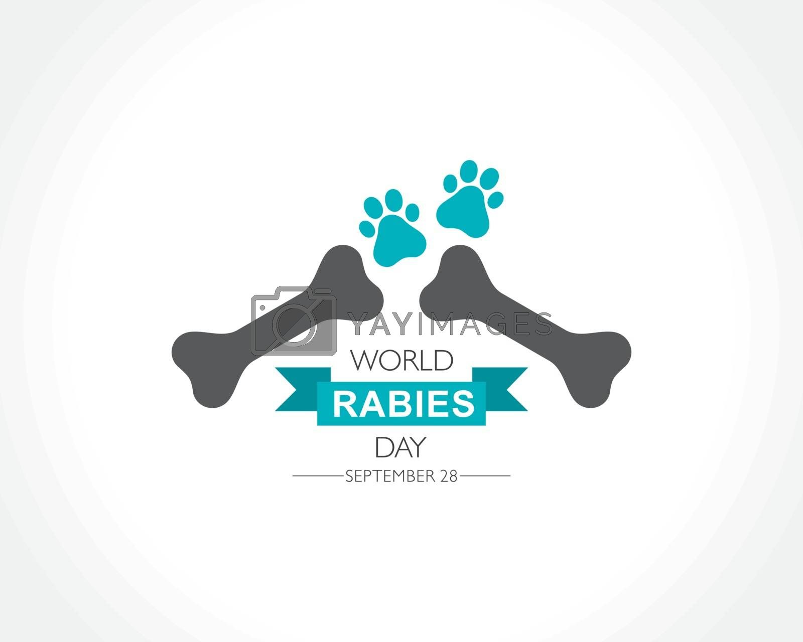 Vector Illustration of World Rabies Day concept observed on September 28th