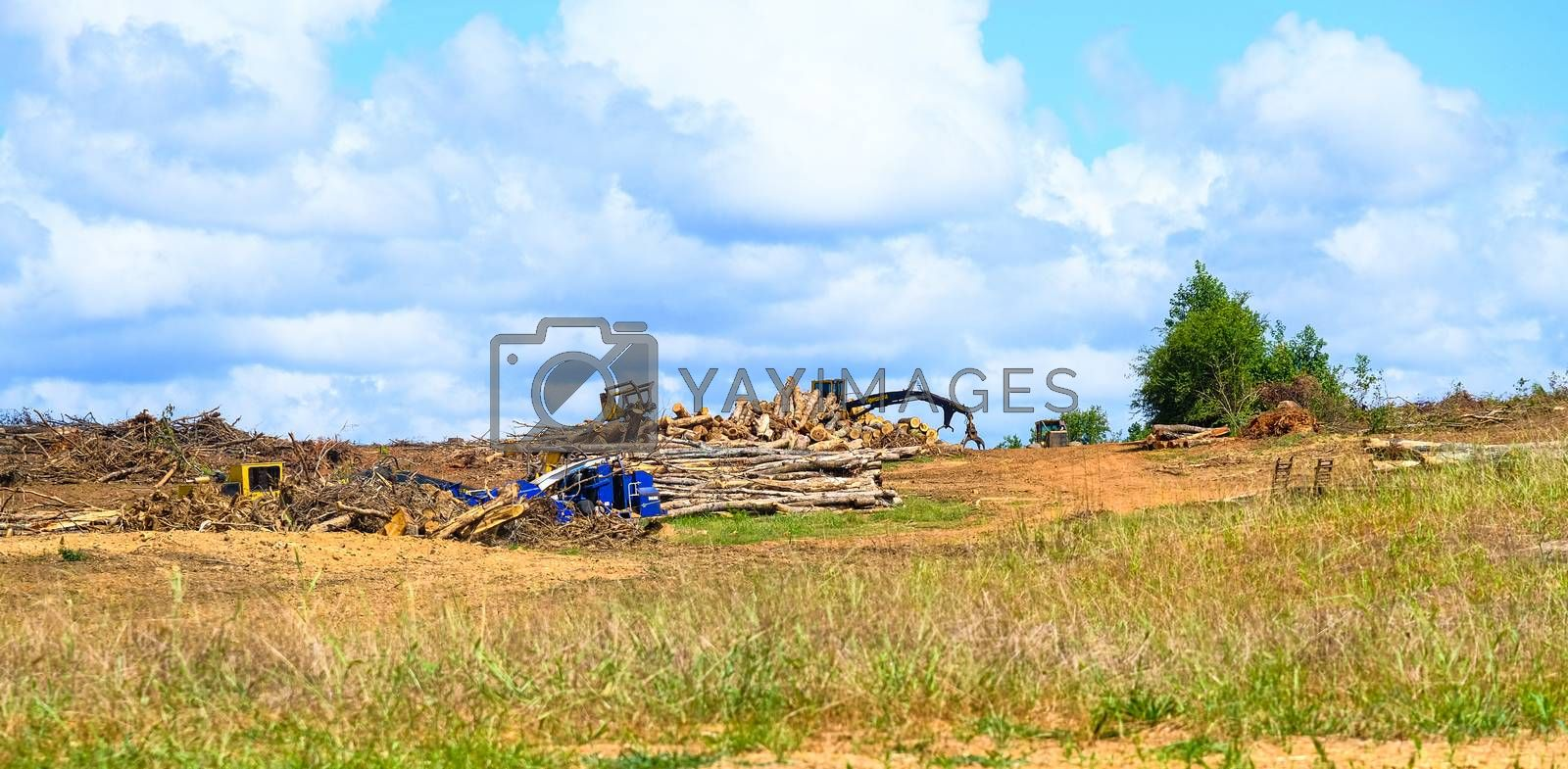 Debris Pile at a Residential Construction Site
