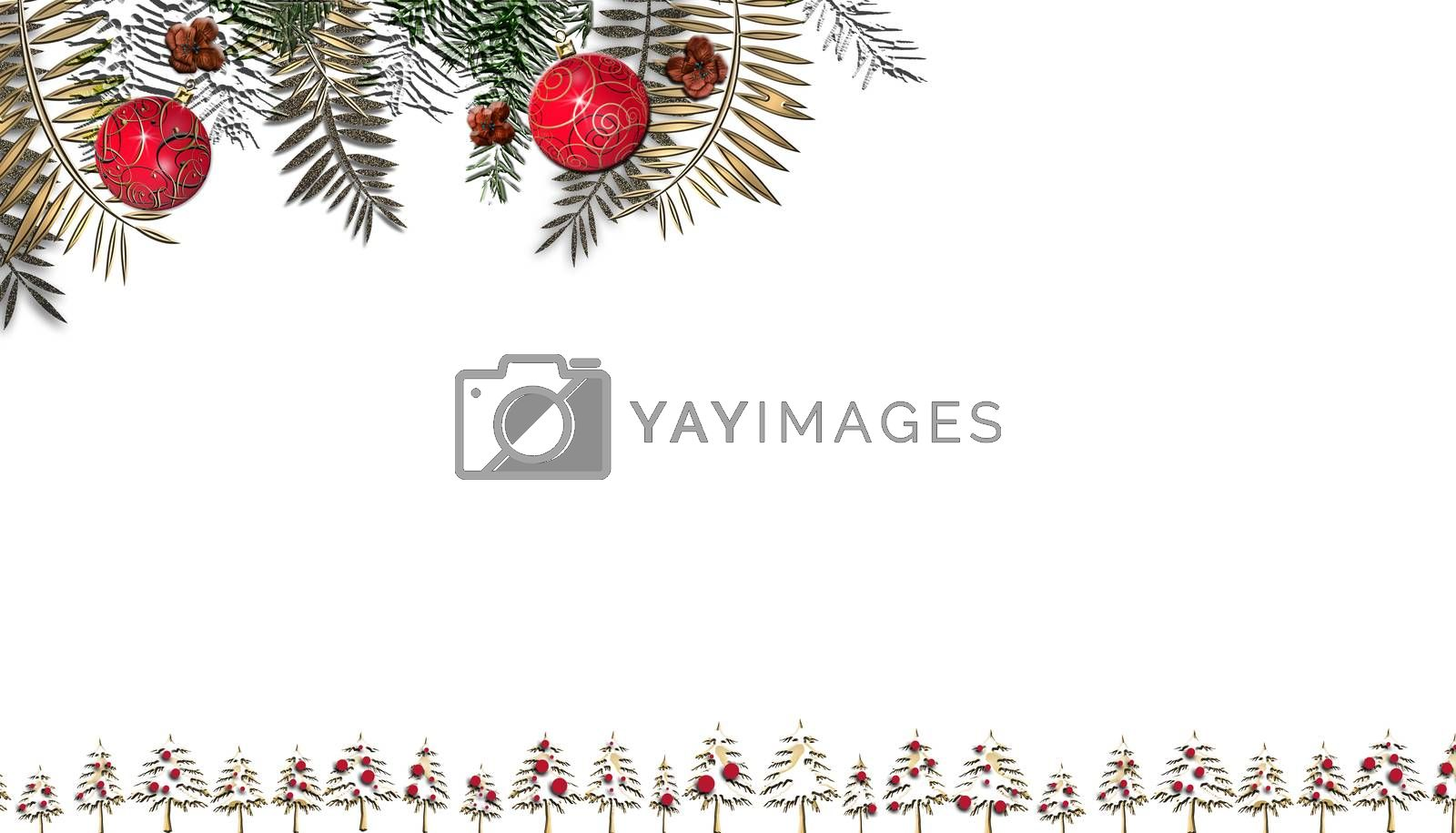 Christmas frame on white by NelliPolk