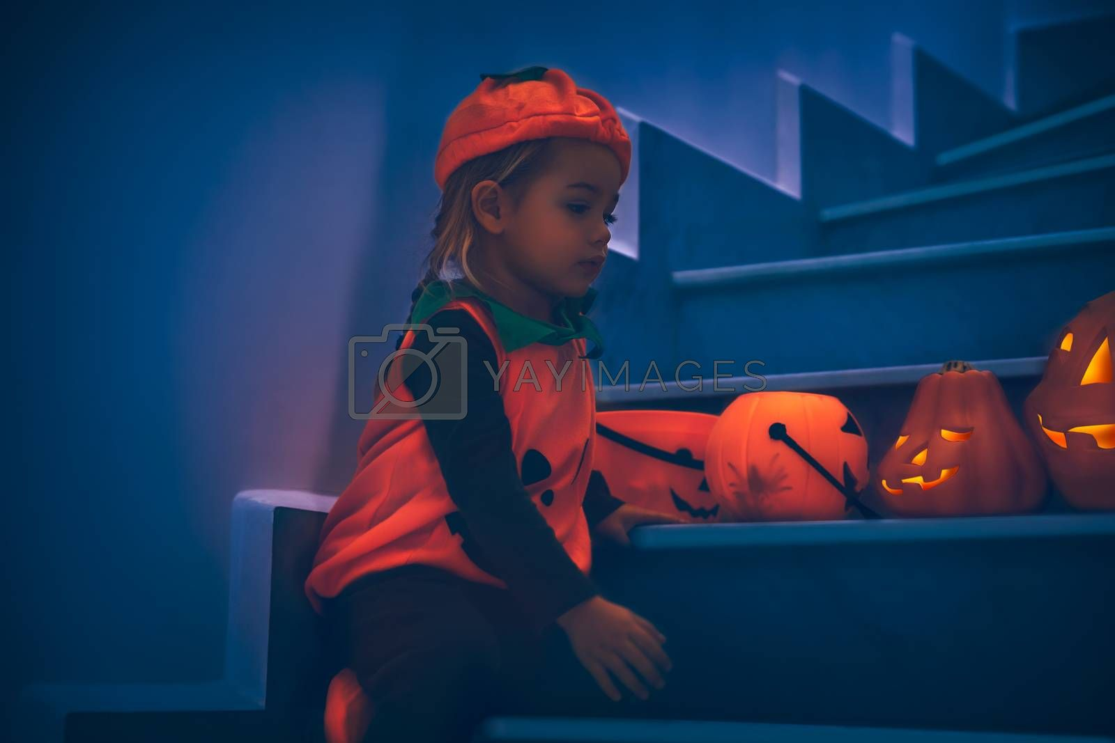 Royalty free image of Baby Celebrating Halloween by Anna_Omelchenko
