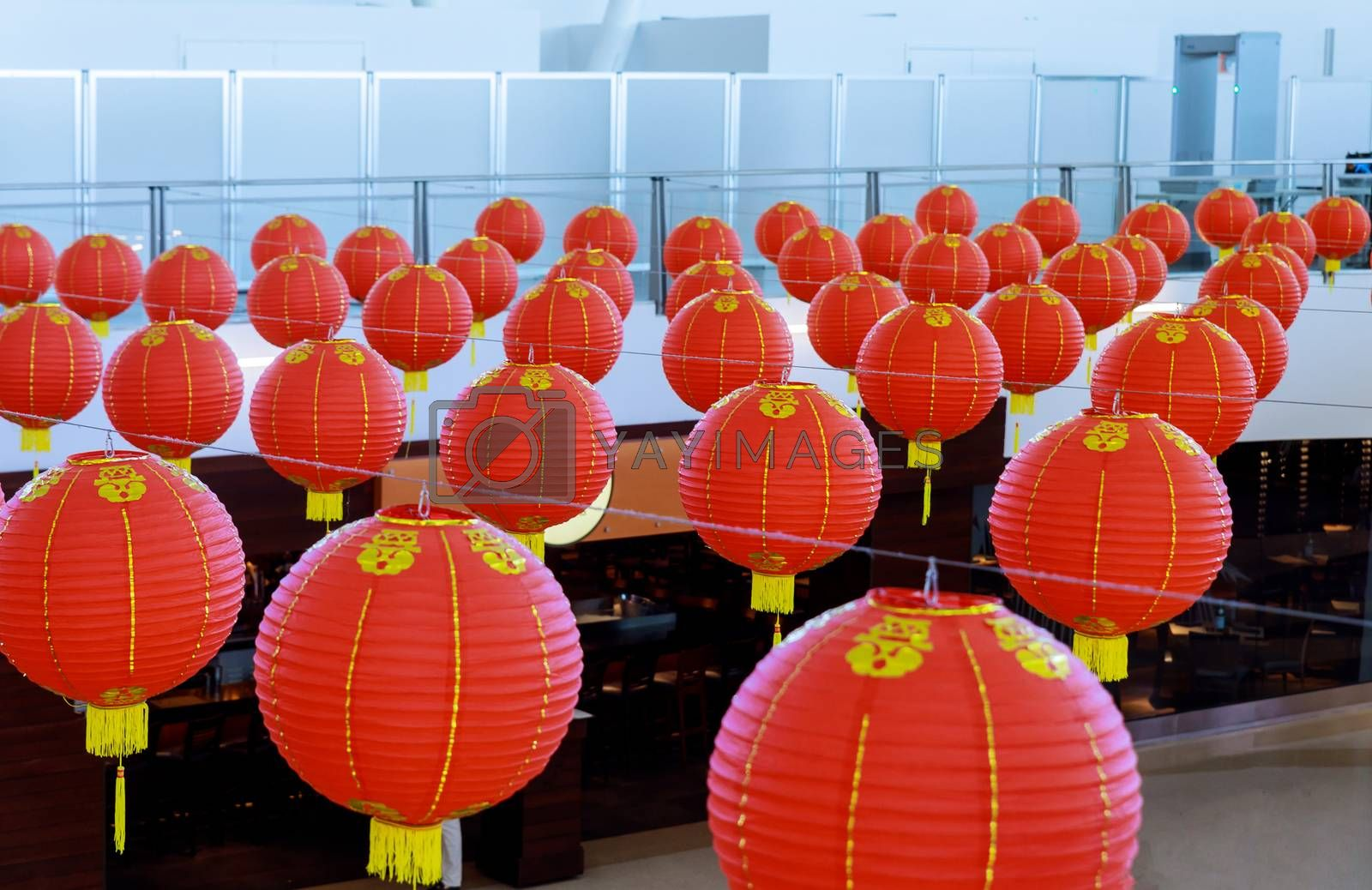 Chinese New Year lanterns hanging to be bought for chinese decorated