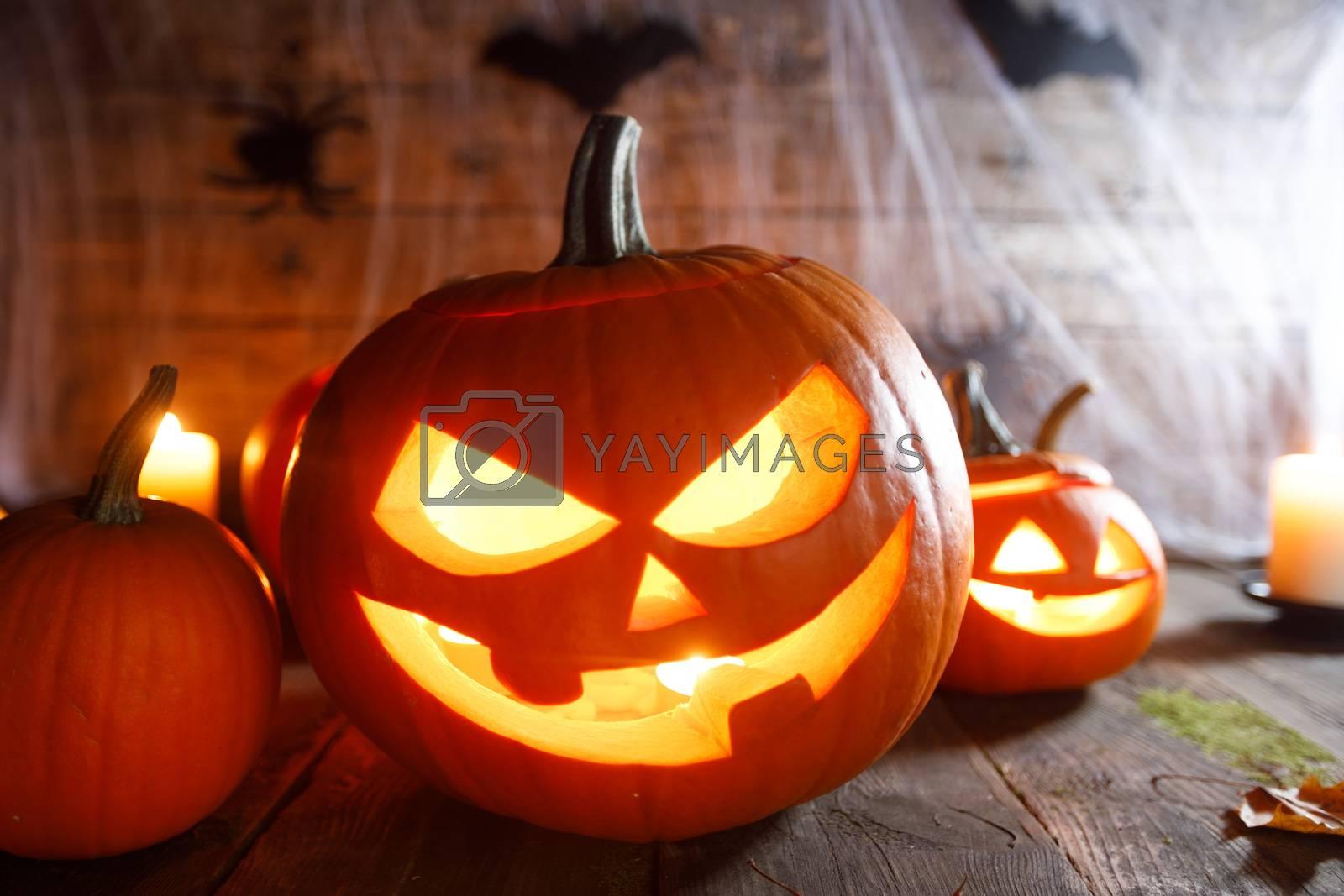 Jack O Lantern Halloween pumpkin by Yellowj