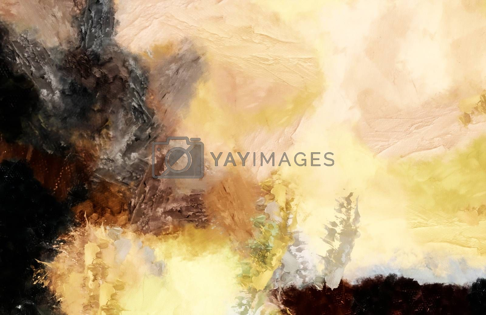 Abstract in soft colors. 3D rendering