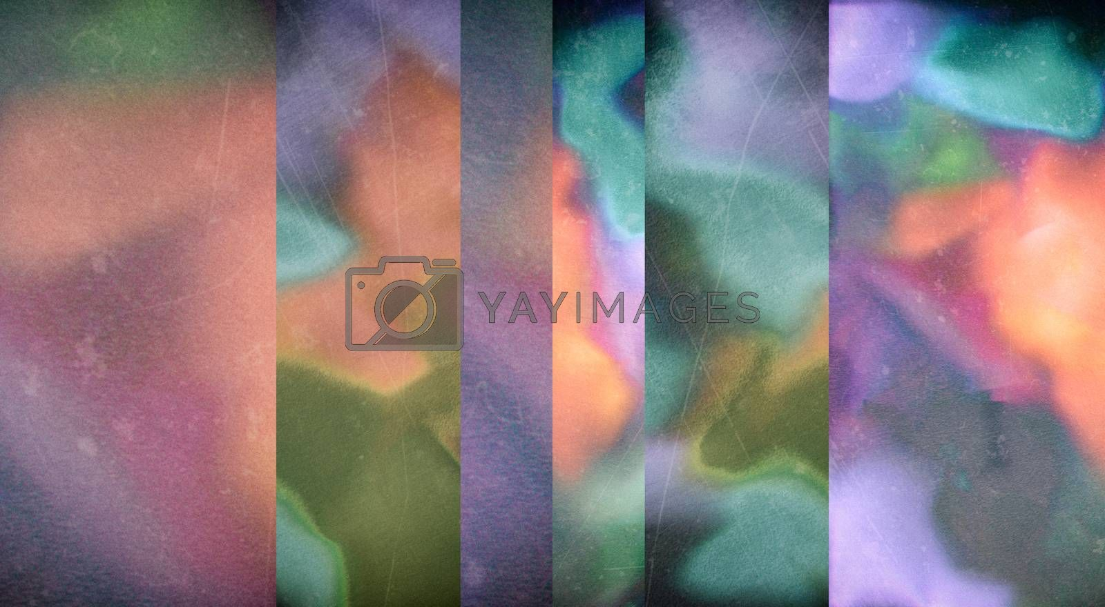 Modern abstract background. Vivid colors. 3D rendering