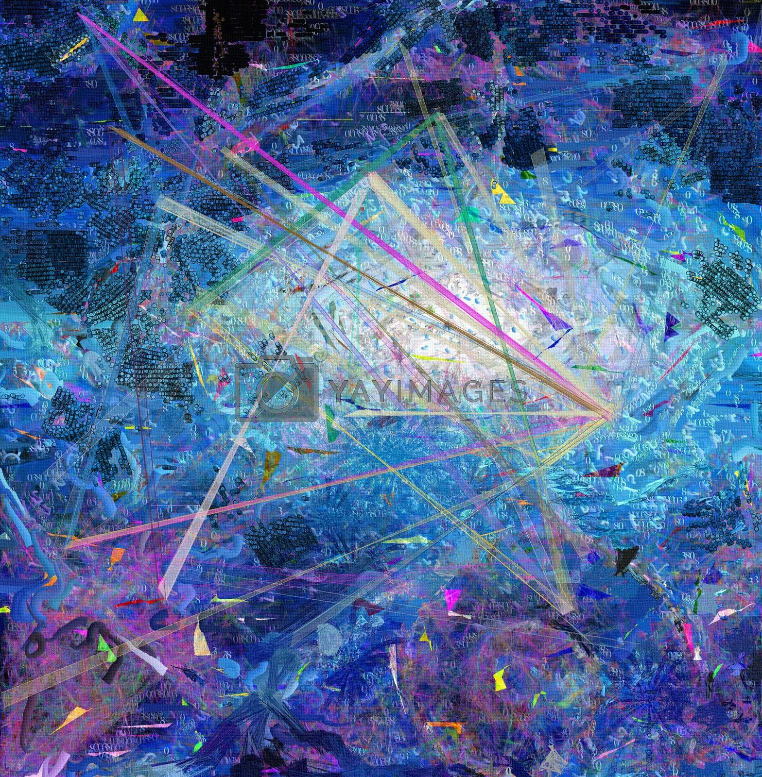 Abstract canvas, Creation moment. 3D rendering