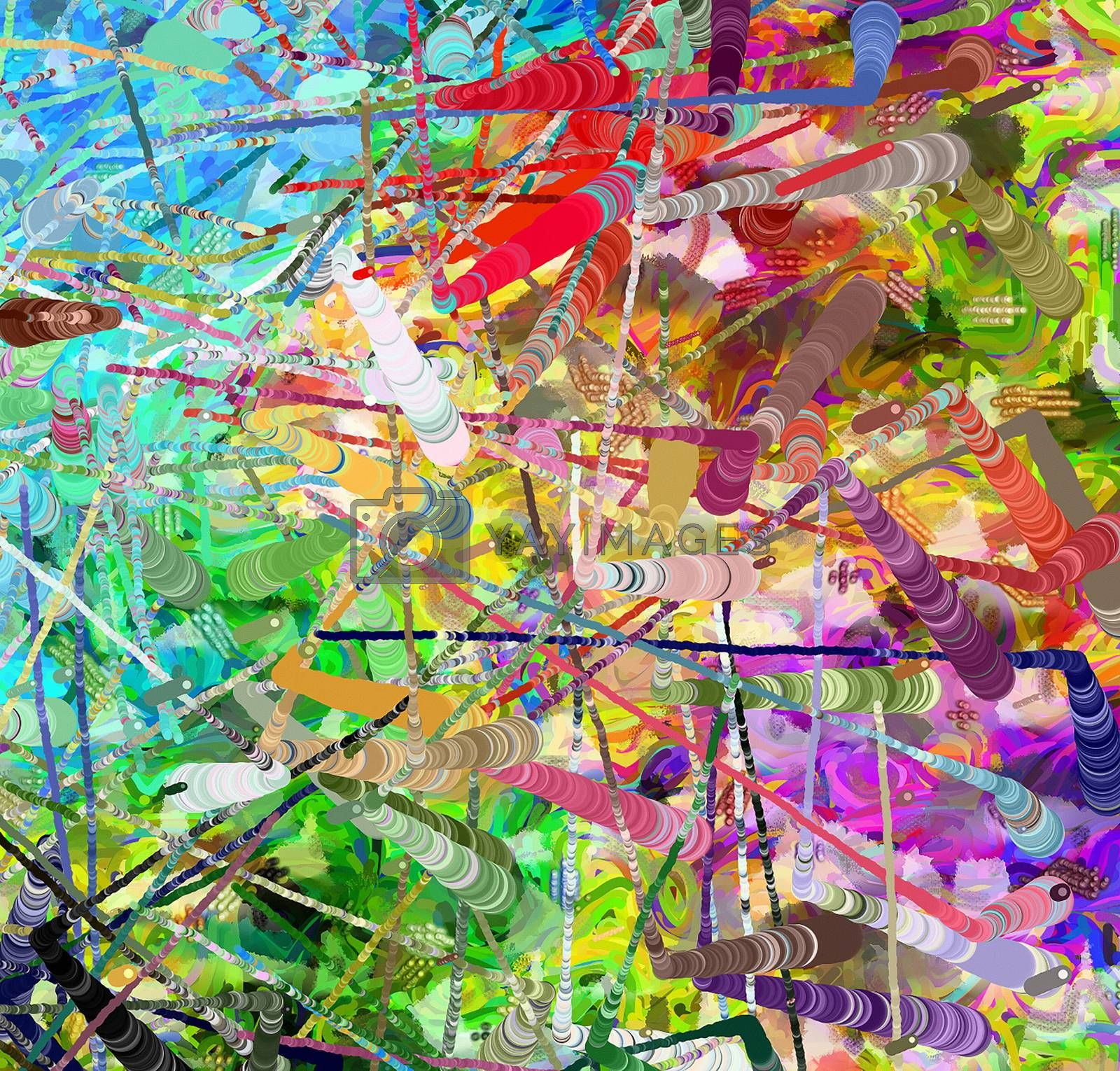Colorful abstract background. Vivid colors. 3D rendering