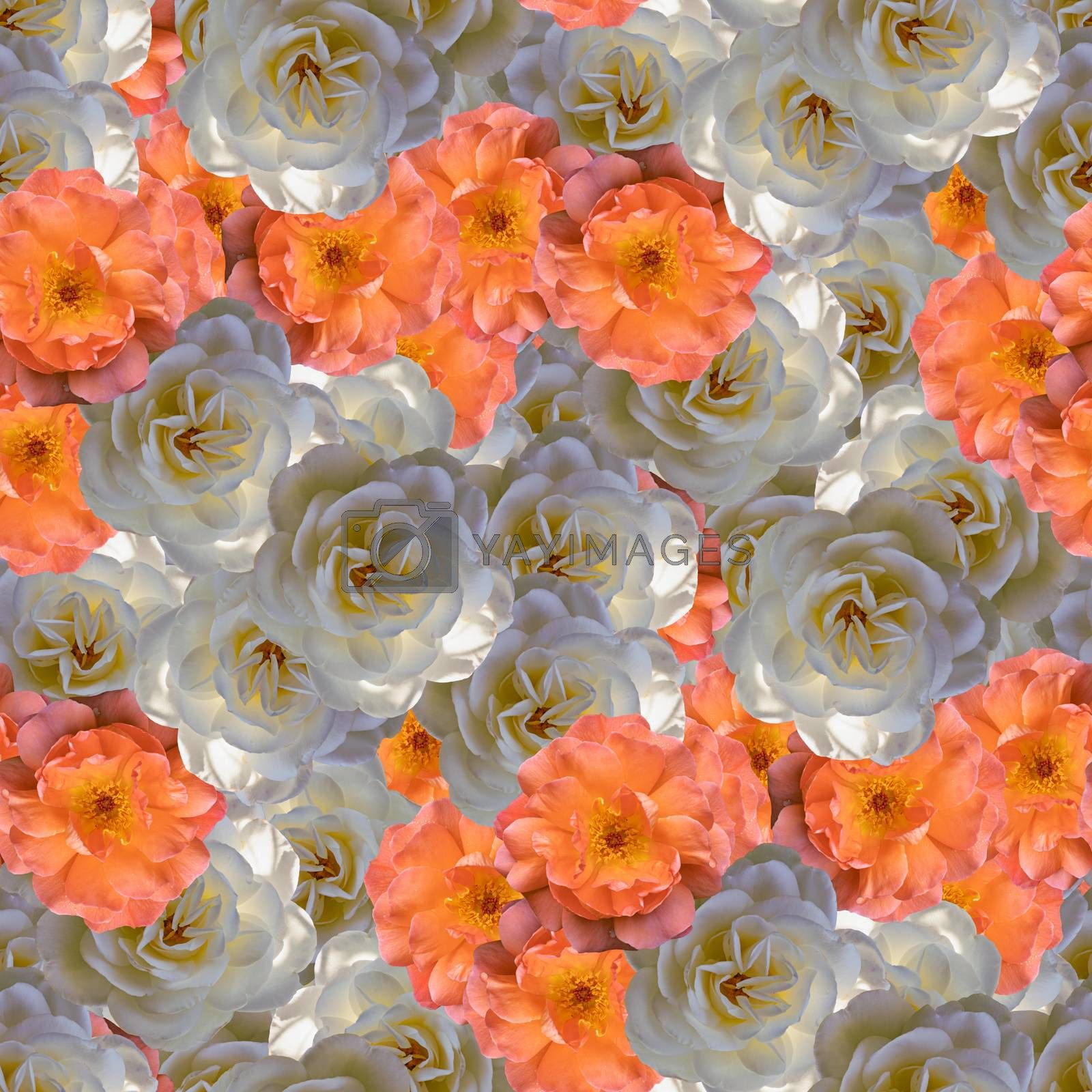seamless light floral pattern, print design element for fabrics or packaging